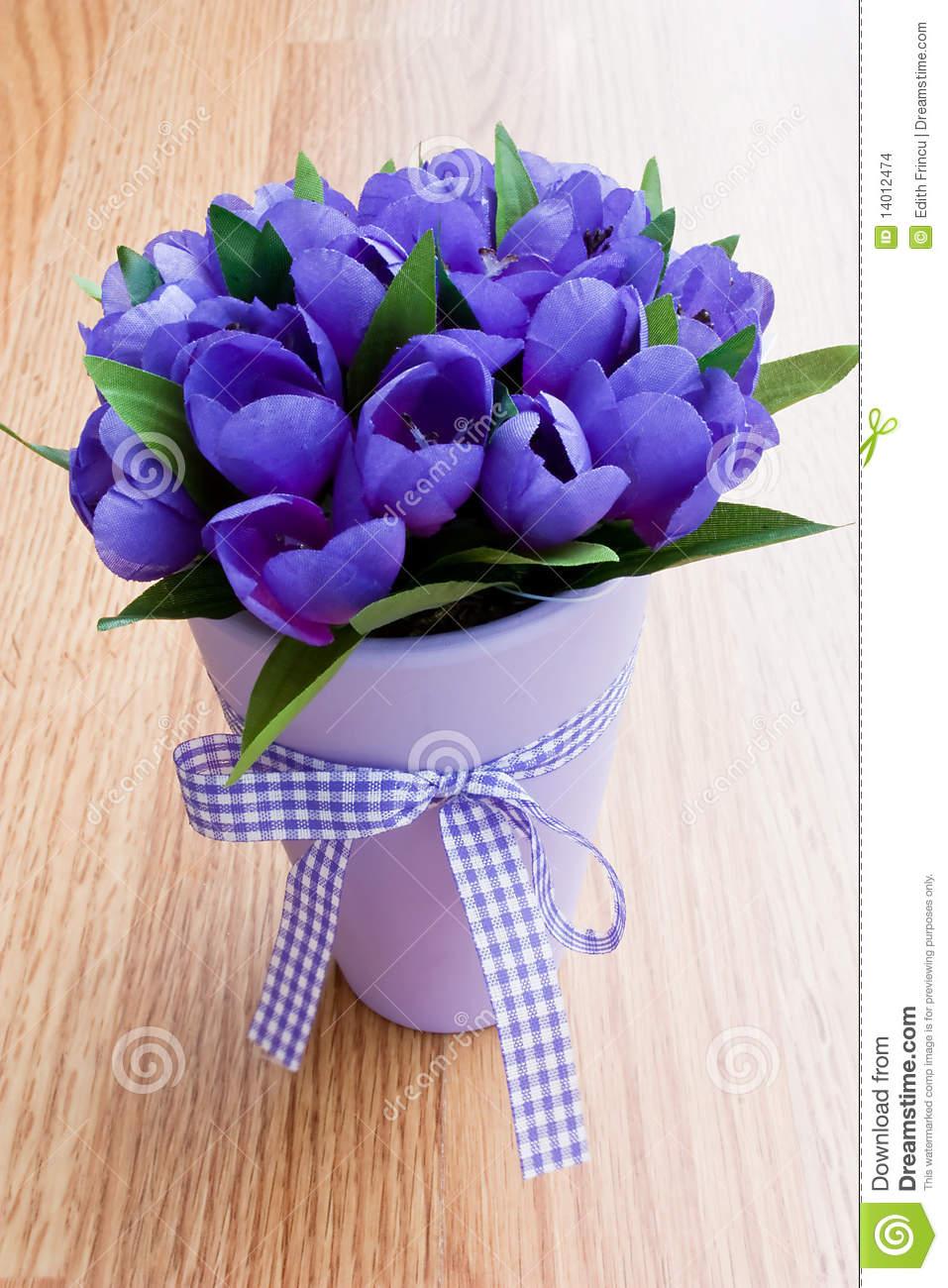 Royalty-Free Stock Photo. Download Purple Flowers In A Vase ...