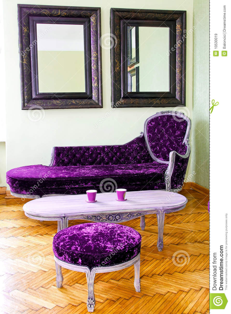 Purple Furniture Royalty Free Stock Images