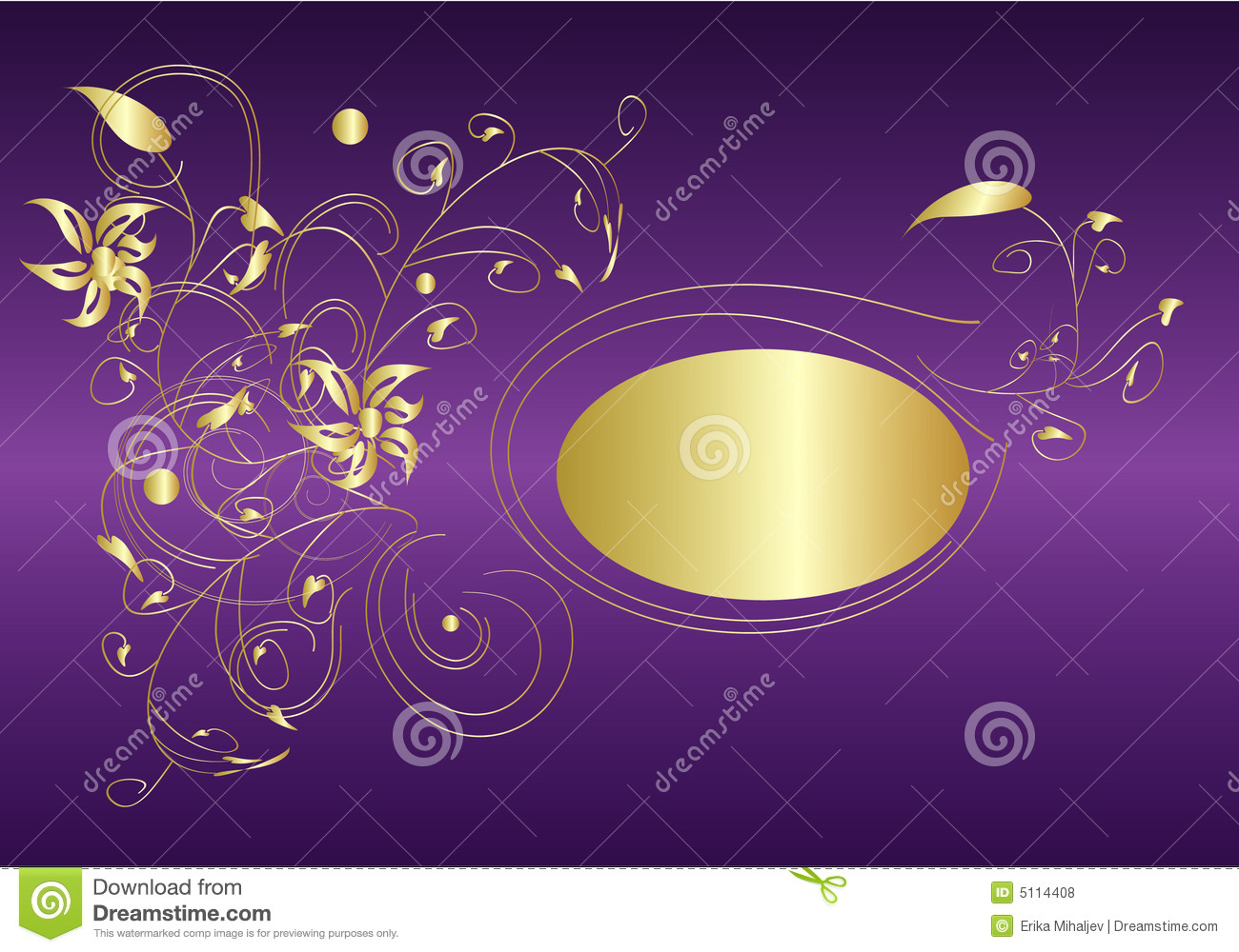 Purple And Gold Royalty Free Stock Photos - Image: 5114408