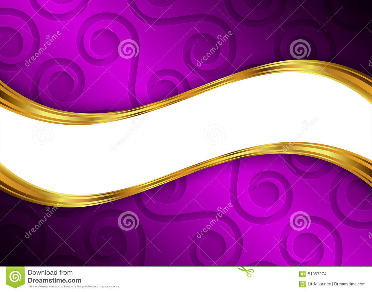 Purple And Gold Abstract Background Template For Website, Banner ...