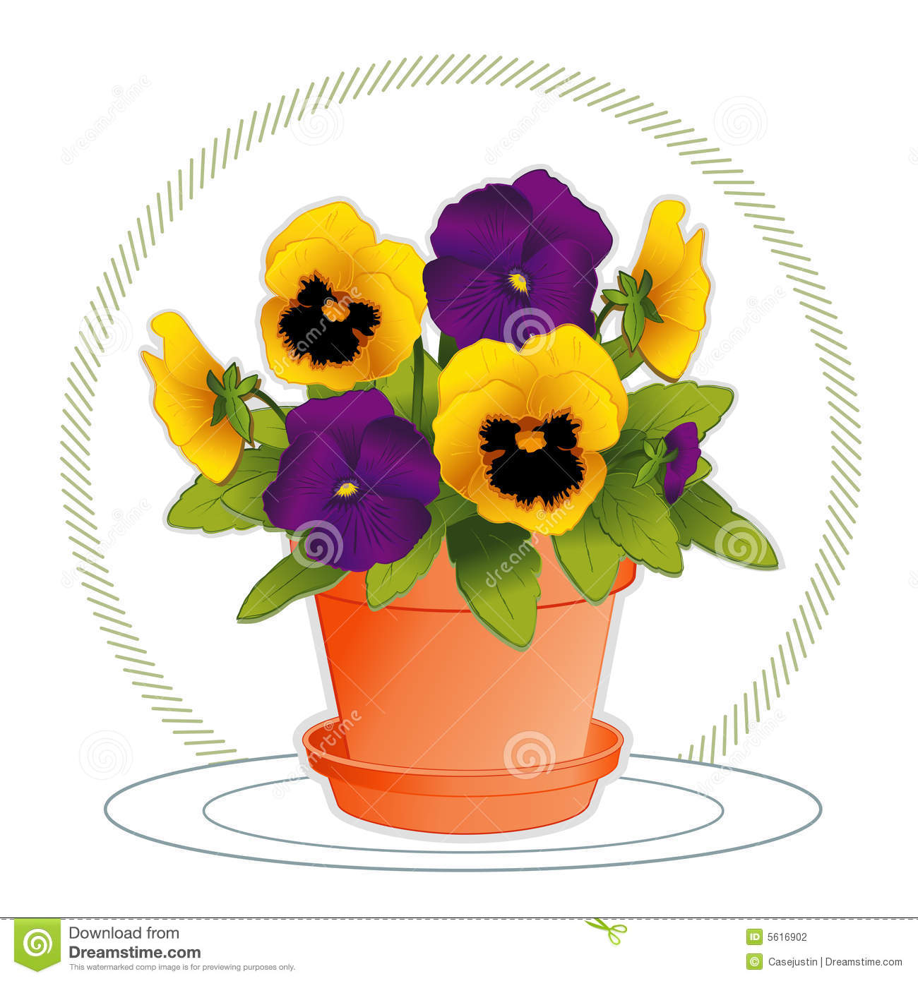 Free Clip Art Flowers In Pots 30