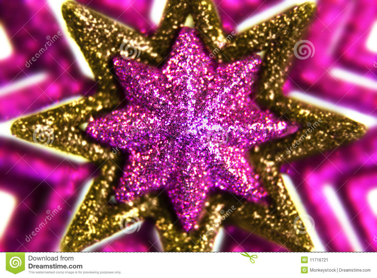 Purple And Gold Stars Stock Image Image 11716721