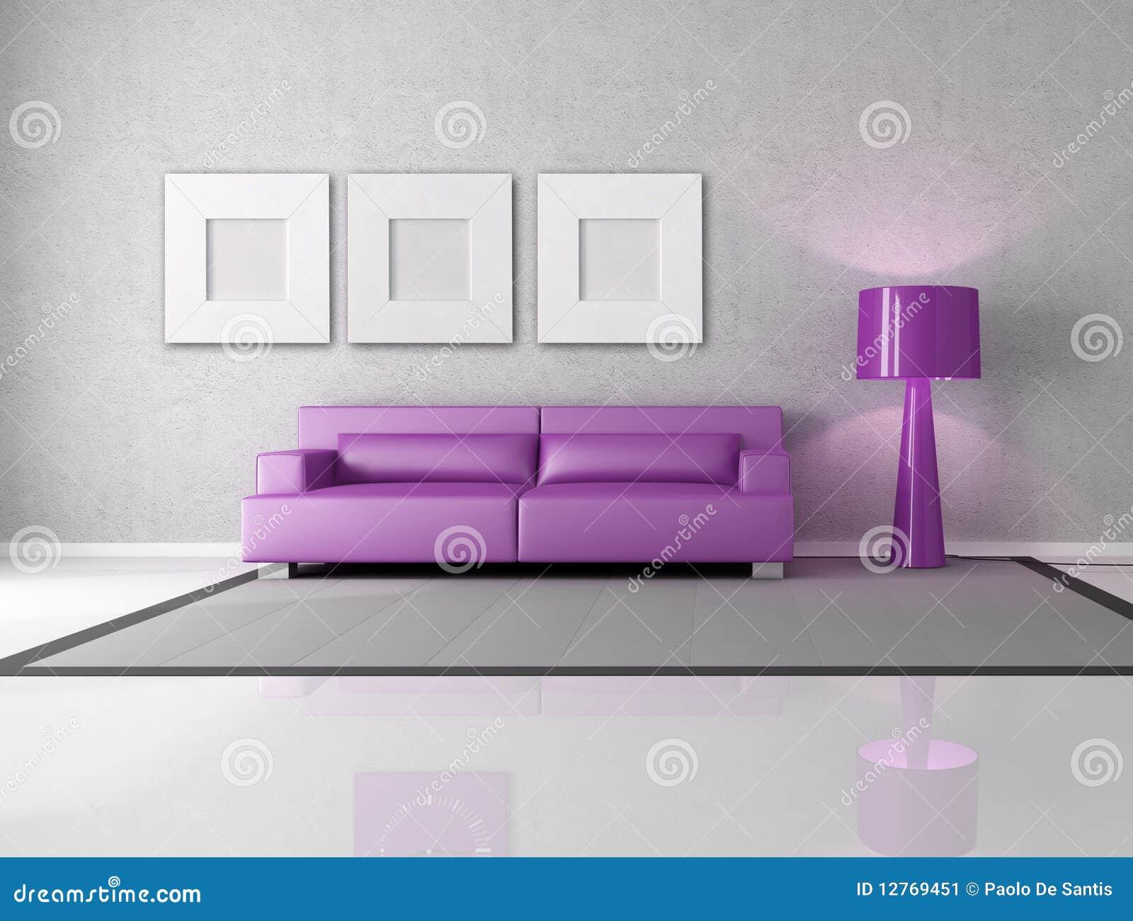 Purple And Gray Living Room Purple And Gray Living Room Stock Image Image 12769451