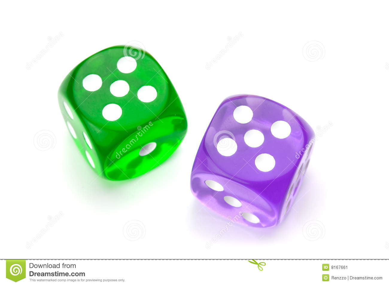 Green Dice Clipart