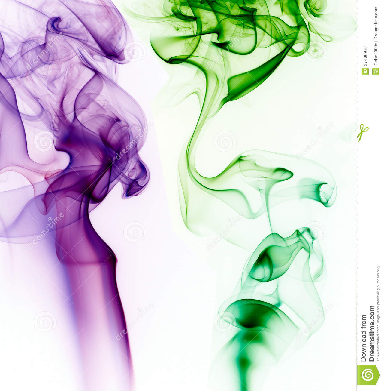 purple and green smoke on white background stock photo image 37406920. Black Bedroom Furniture Sets. Home Design Ideas