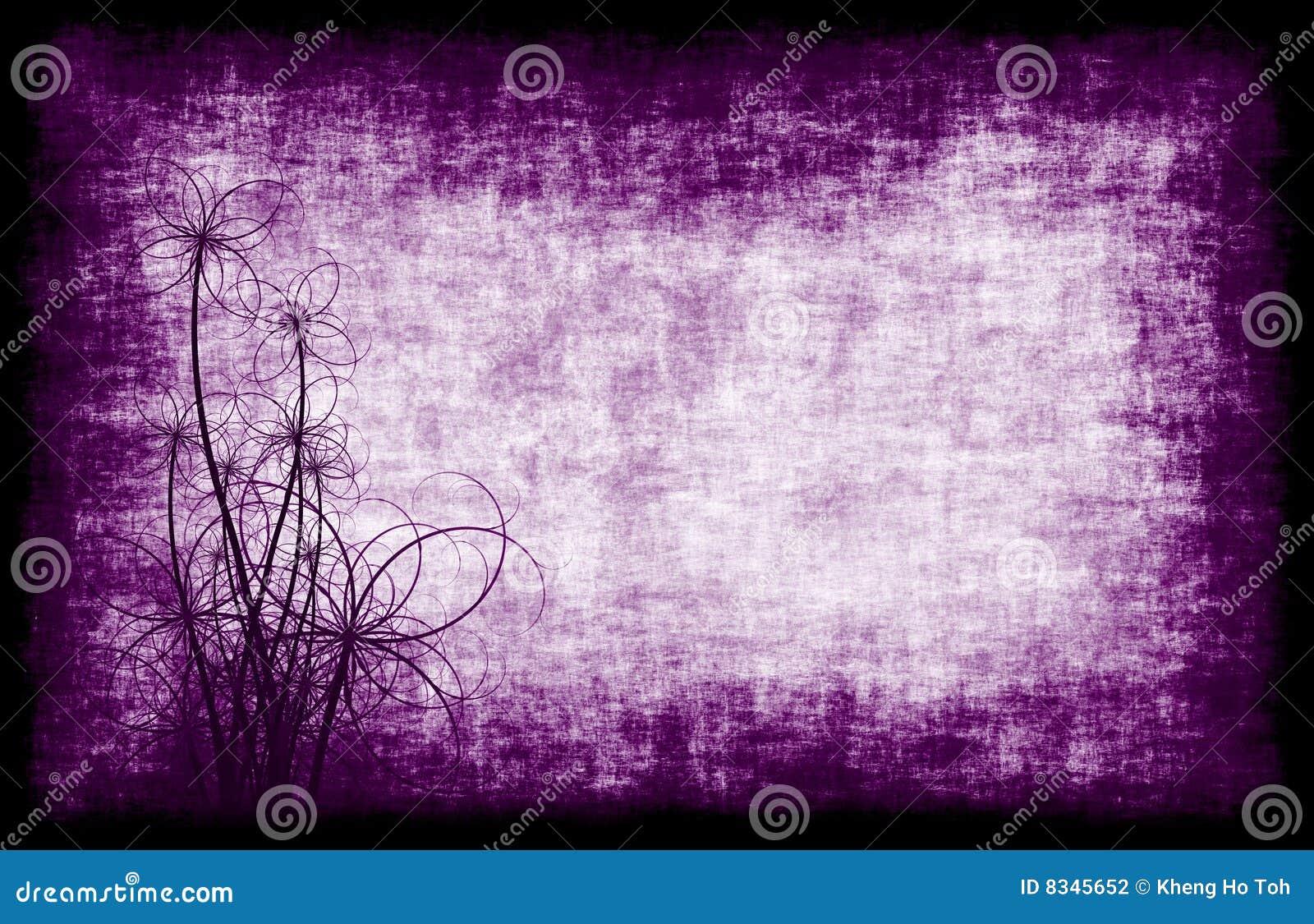 purple grunge background floral stock illustration