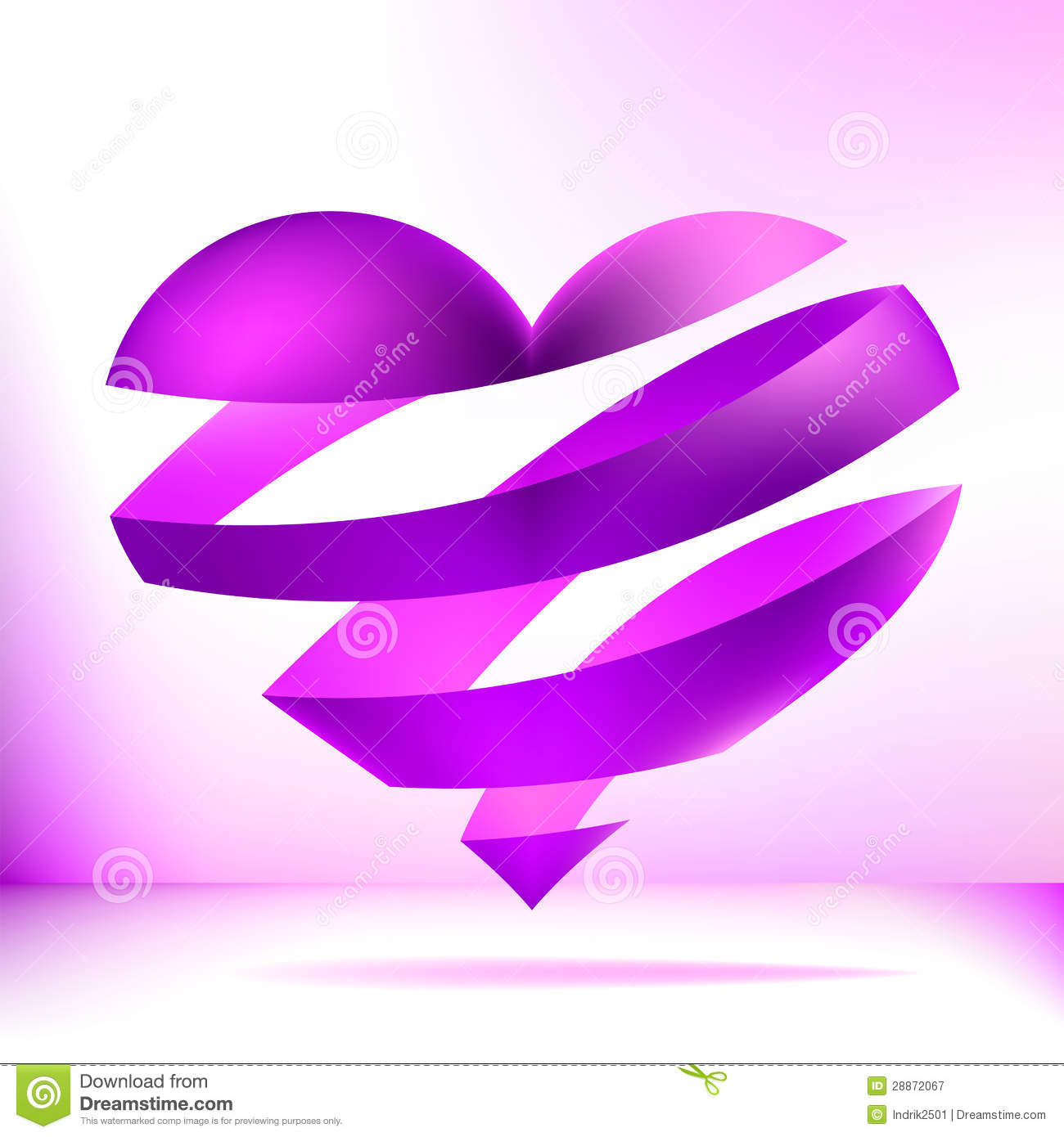 Purple Heart On A Light Background. + EPS8 Royalty Free ...
