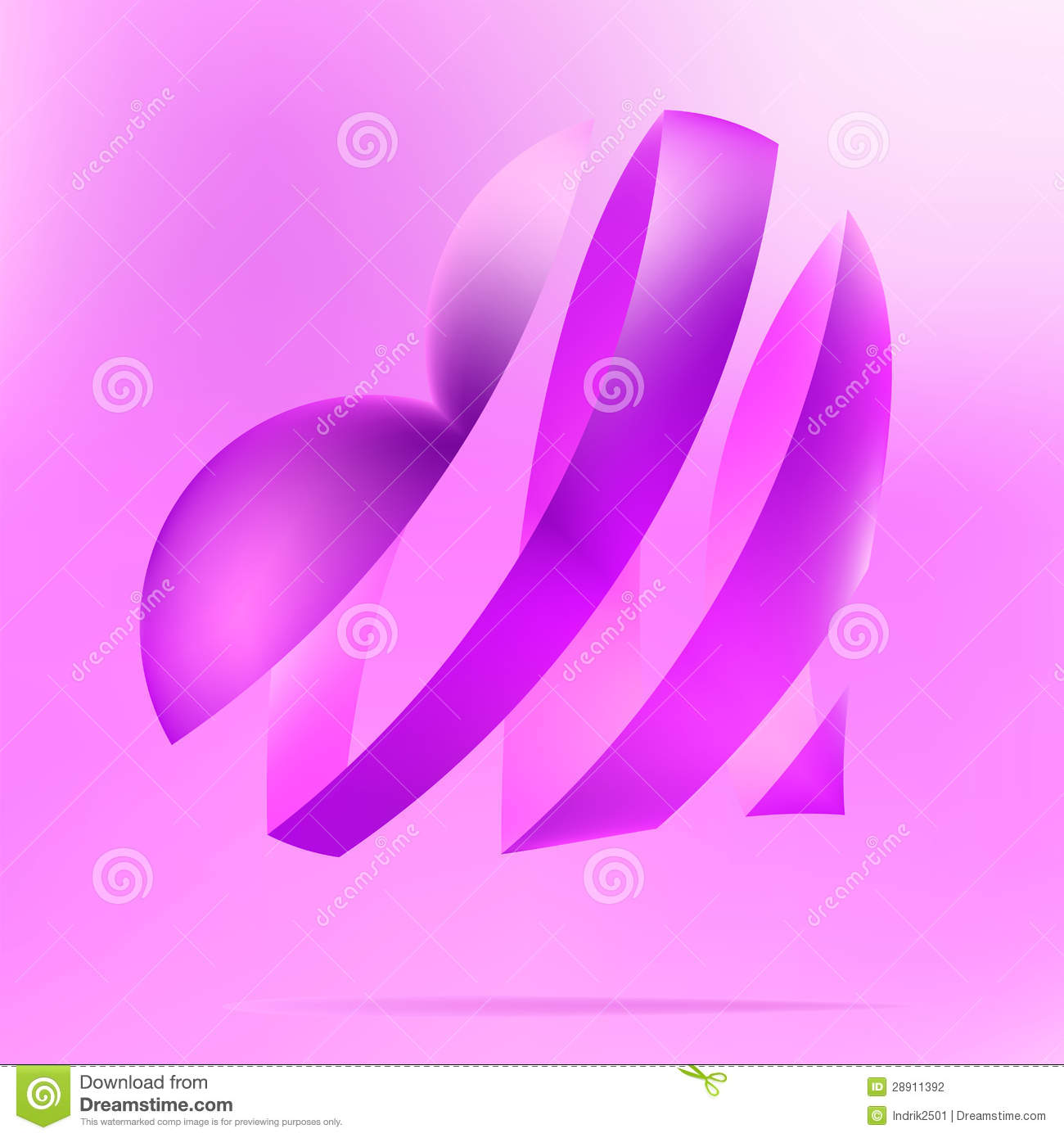Image Gallery light purple heart