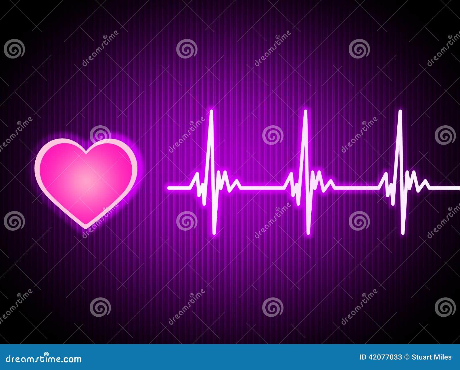 Purple Heart tło Pokazuje Żywy Sercowego I zdrowie