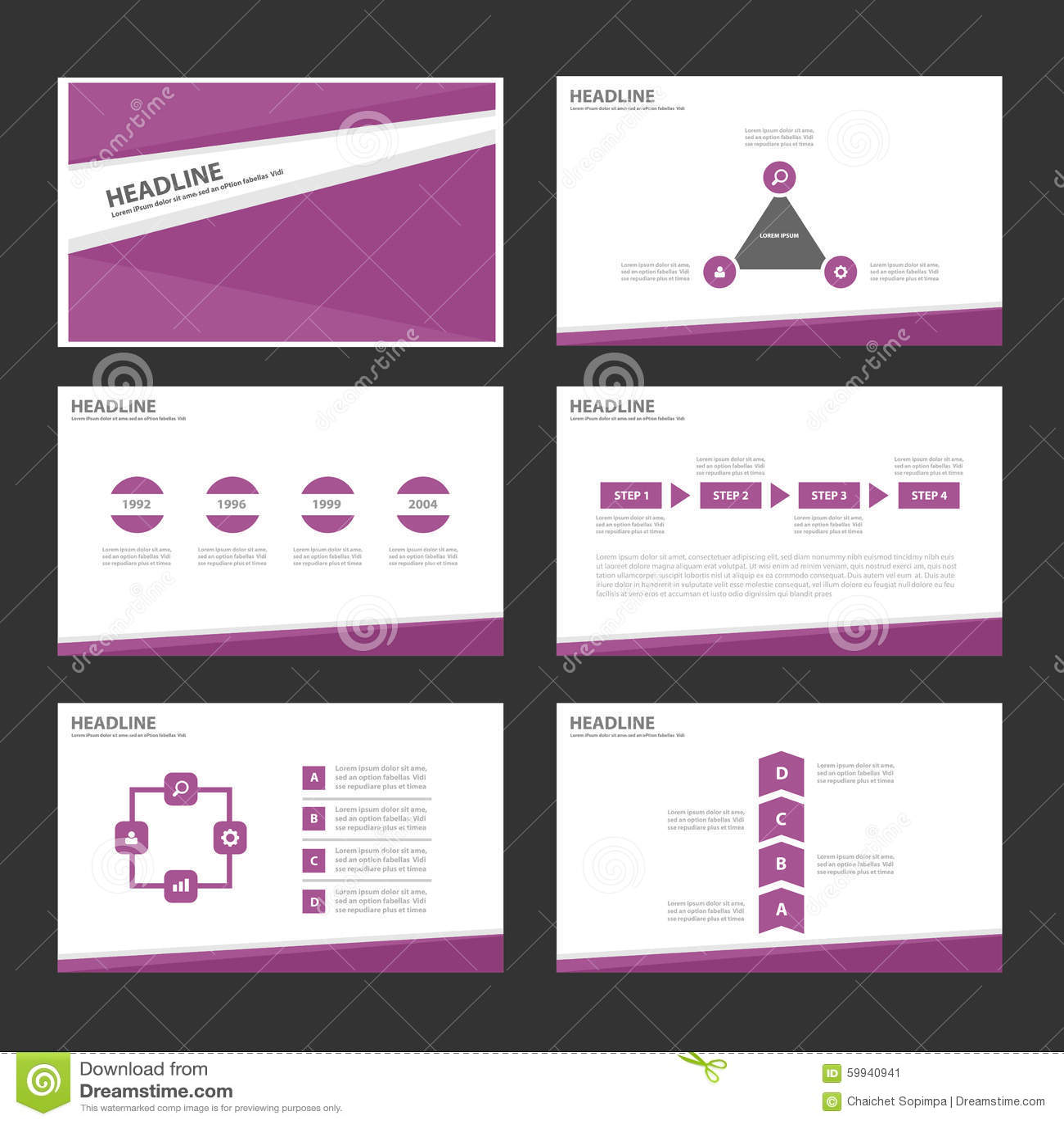 purple infographic elements icon presentation template flat design set for advertising marketing brochure flyer