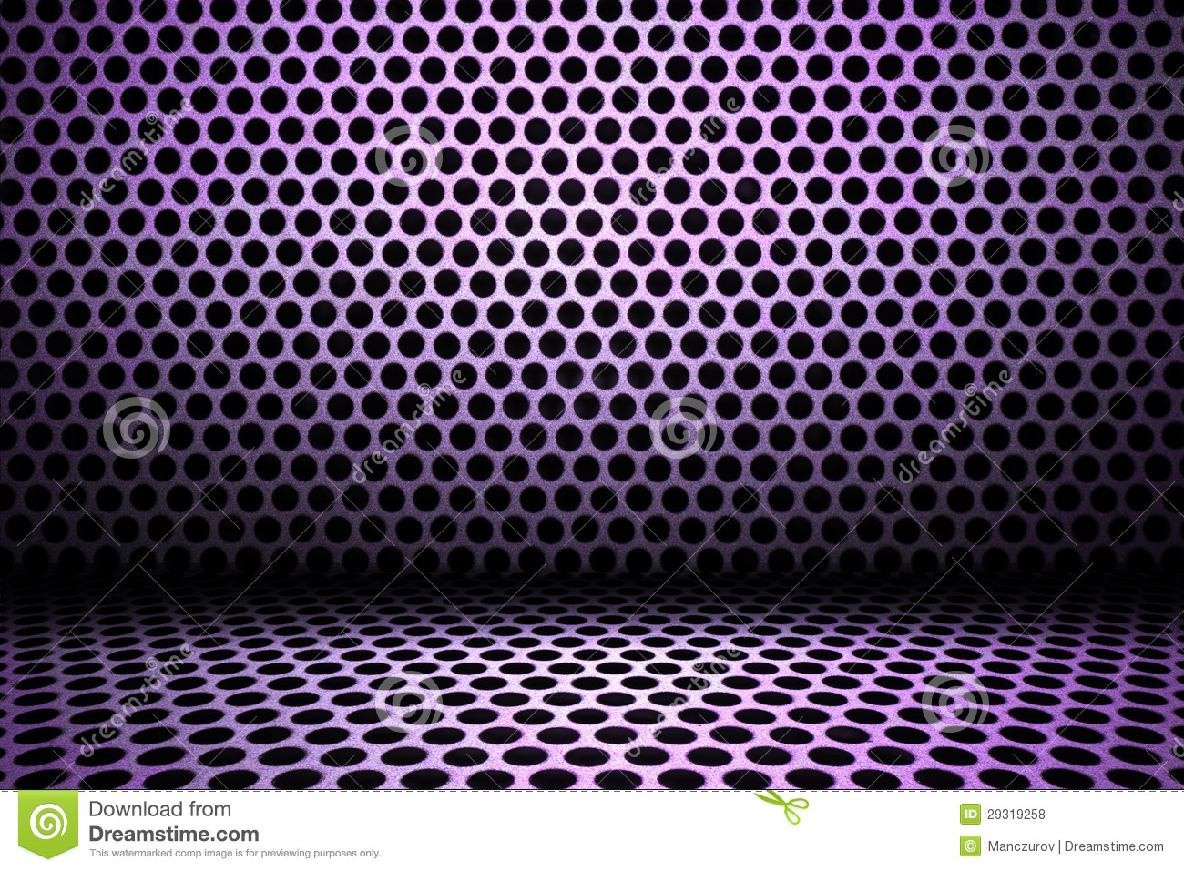 Purple Interior Background Of Circle Mesh Pattern Texture