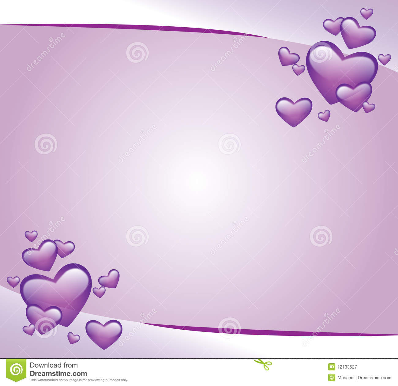 Purple invitation card stock illustration illustration of hearts purple invitation card stopboris Choice Image