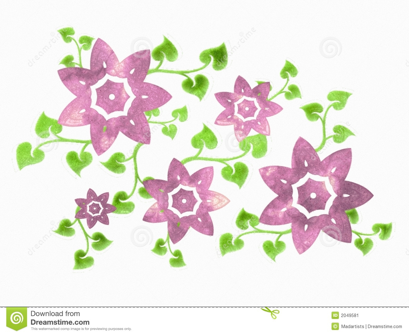 purple isolated flower vine stock image  image, Beautiful flower