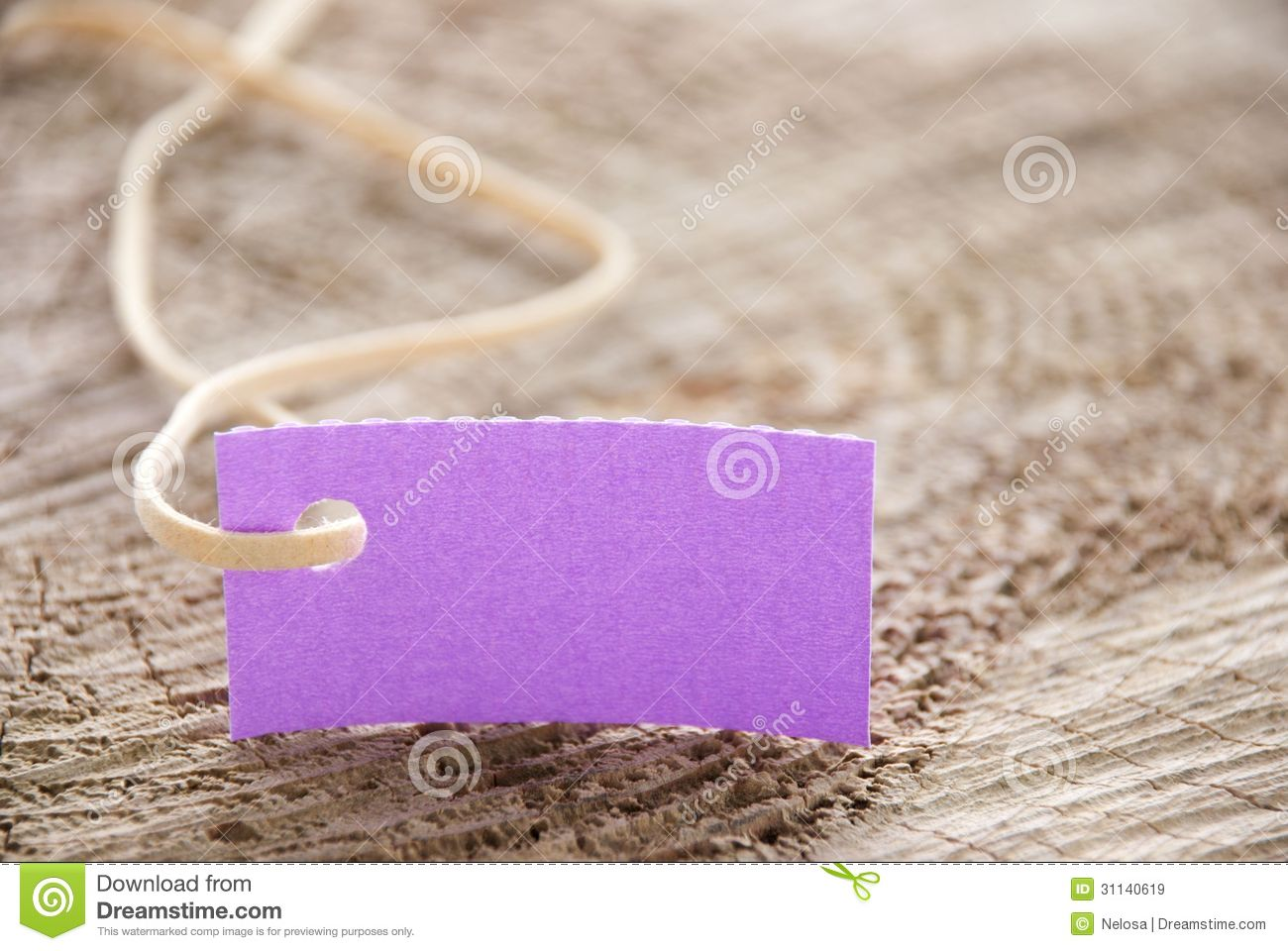 Purple Tag: Purple Label On Wood Royalty Free Stock Images