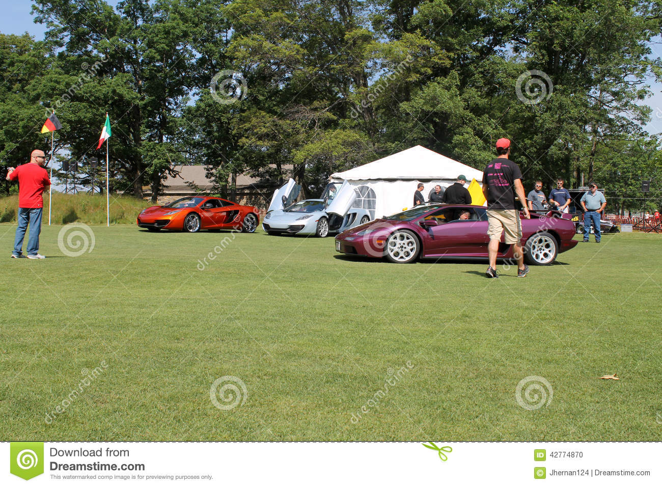 Purple Lambo Driving On Lawn Editorial Image Image Of Front Belle