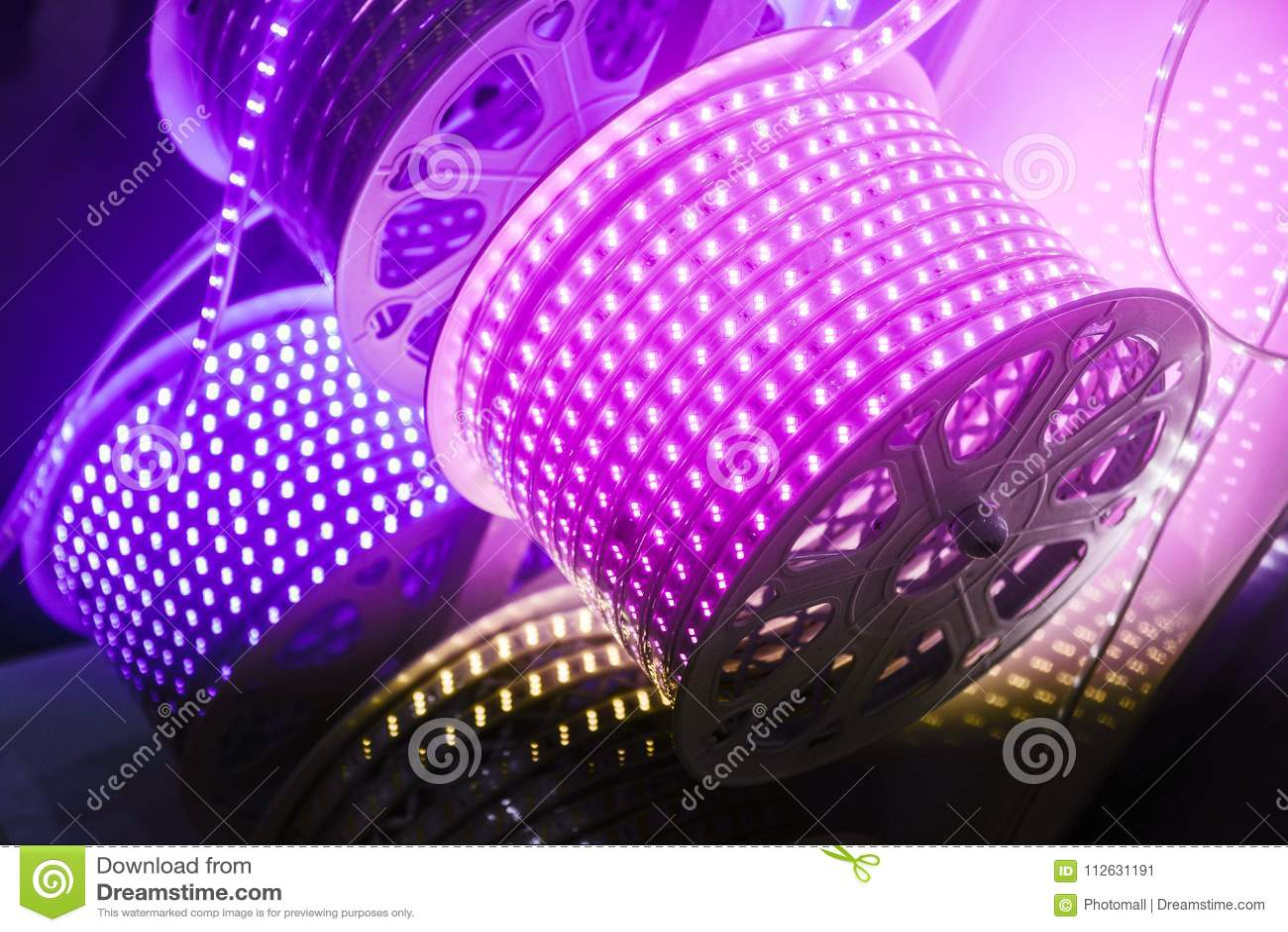 Purple led Lamp belt