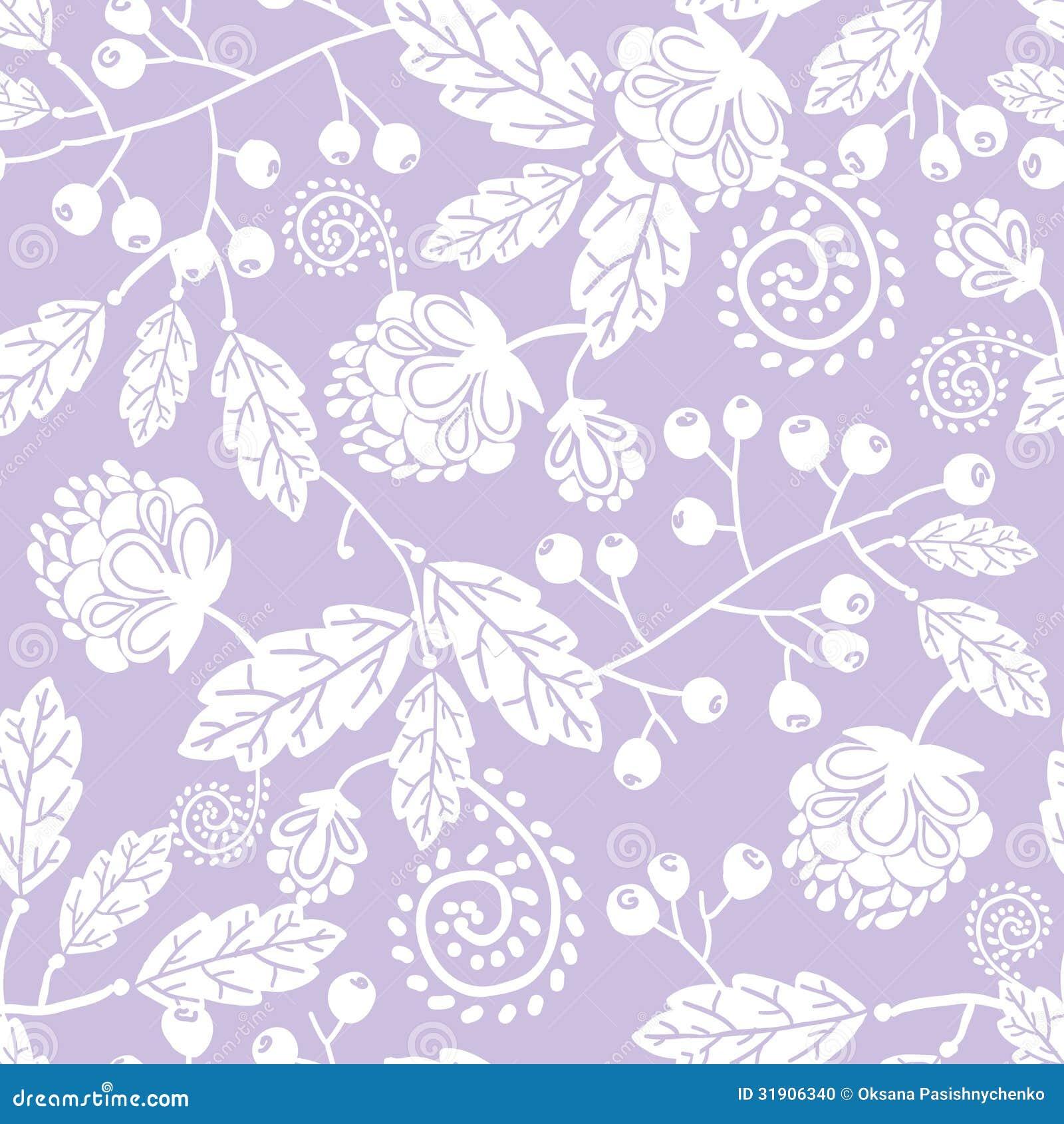 Purple Line Art Flowers Seamless Pattern Stock Vector - Illustration ... for Light Purple Background Pattern  1lp1fsj