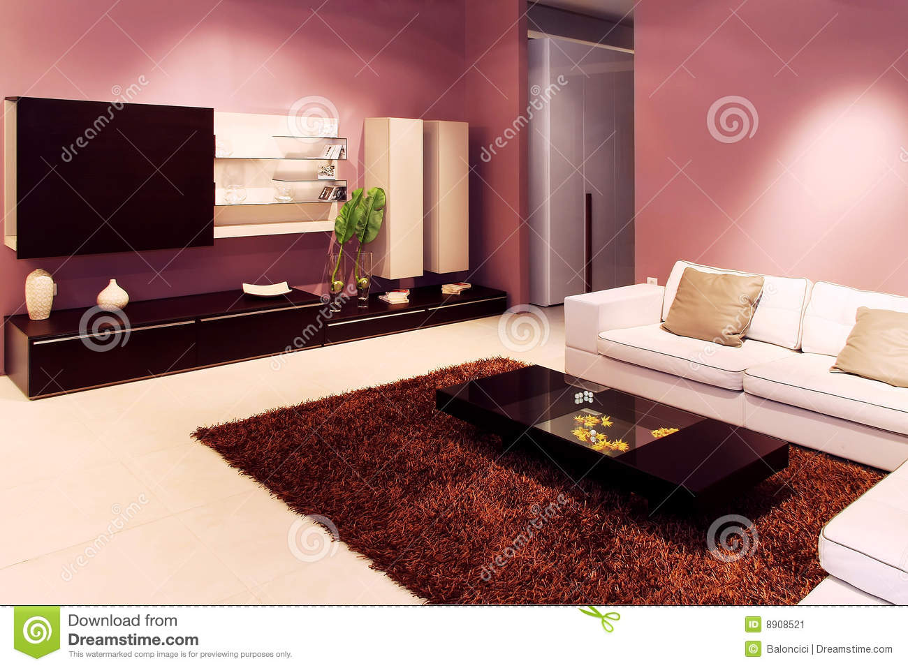 Purple Living Rooms purple living room stock photography - image: 13740262