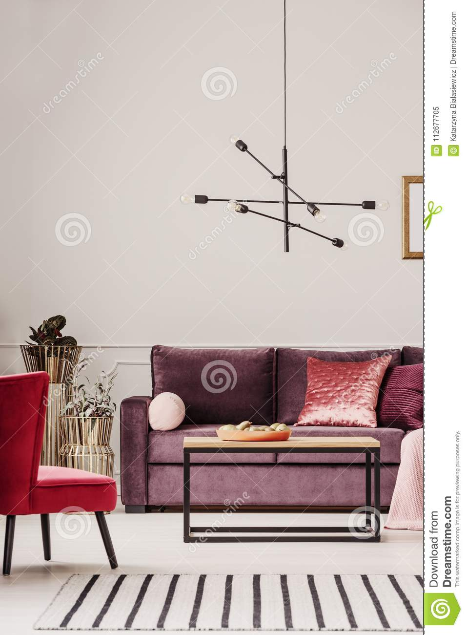 exceptional Red And Purple Living Room Part - 9: Purple living room interior