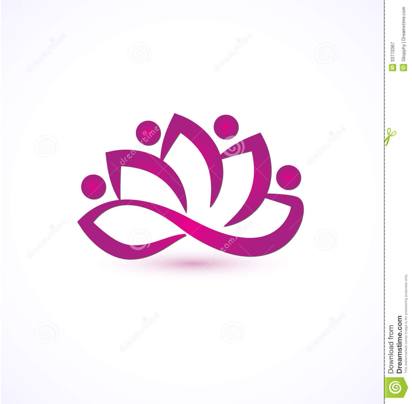 Purple Lotus Flower Logo Stock Vector Illustration Of Backdrop