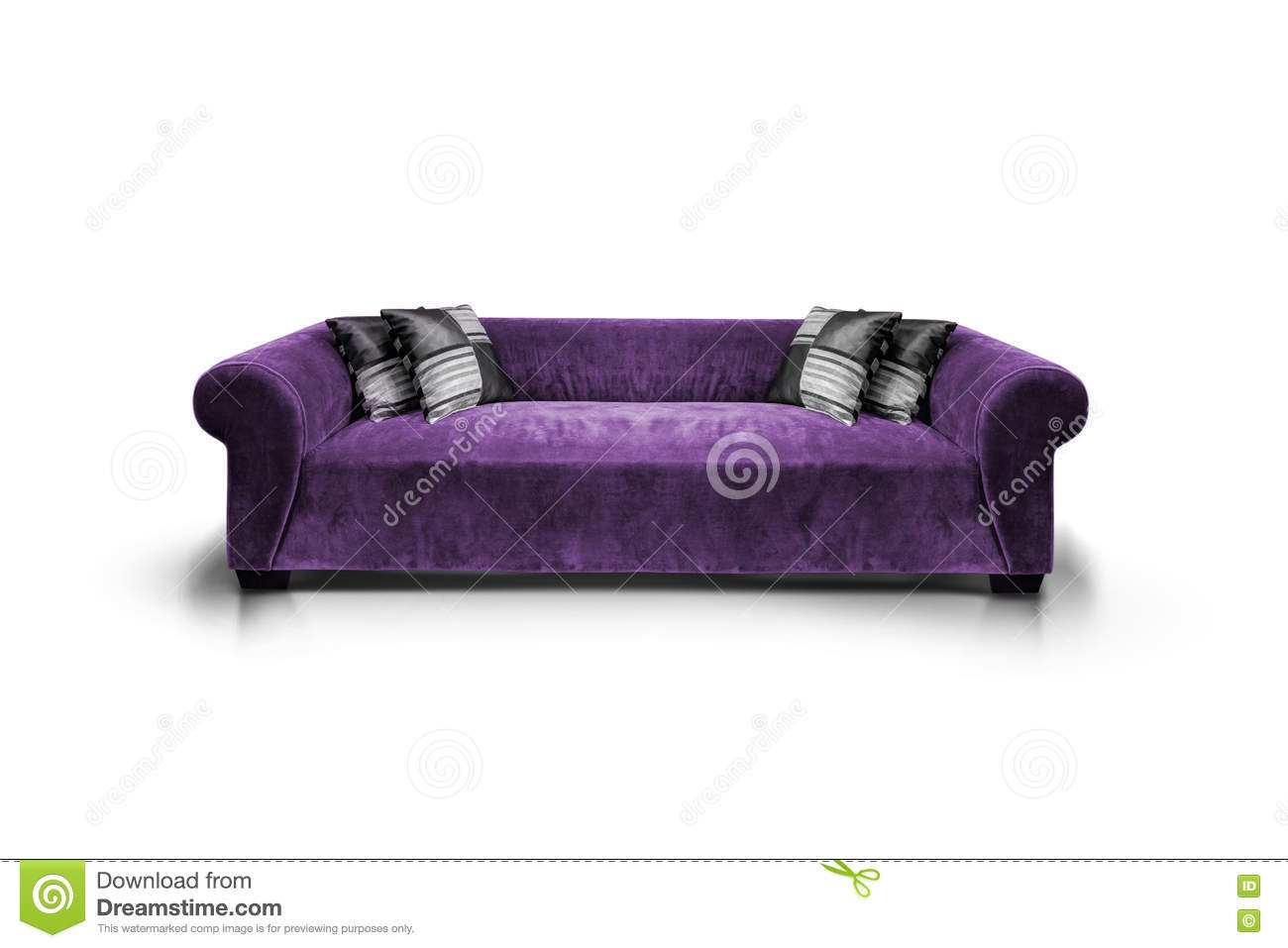 Purple luxurious sofa