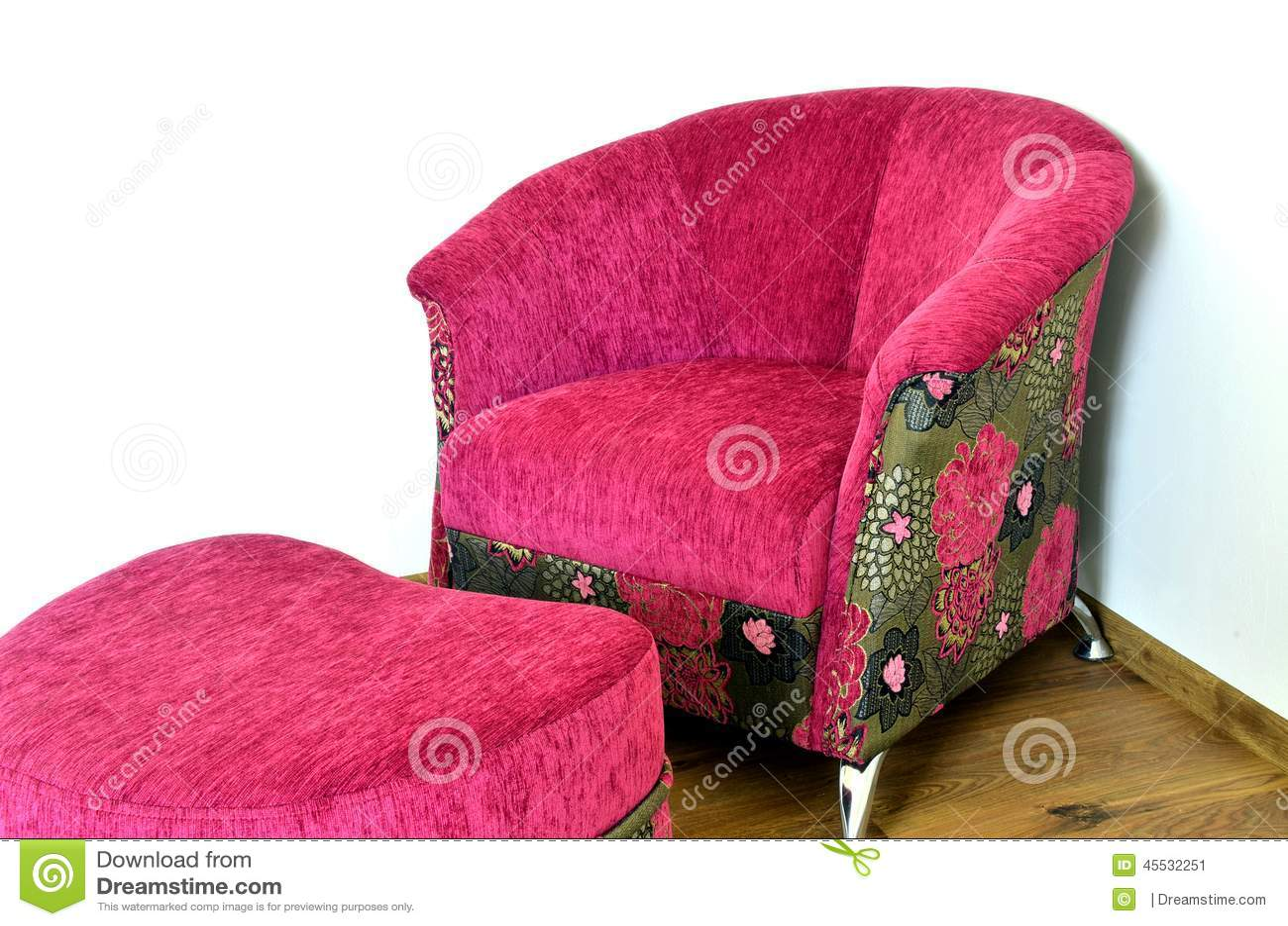 Purple Modern Chair Stock Image Image Of Modern Ottoman 45532251