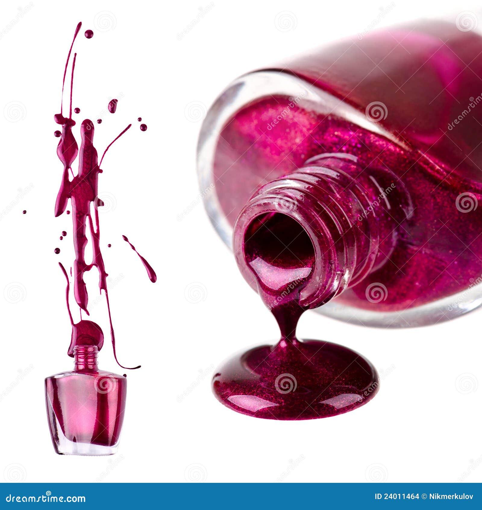 Purple Nail Polish Splash