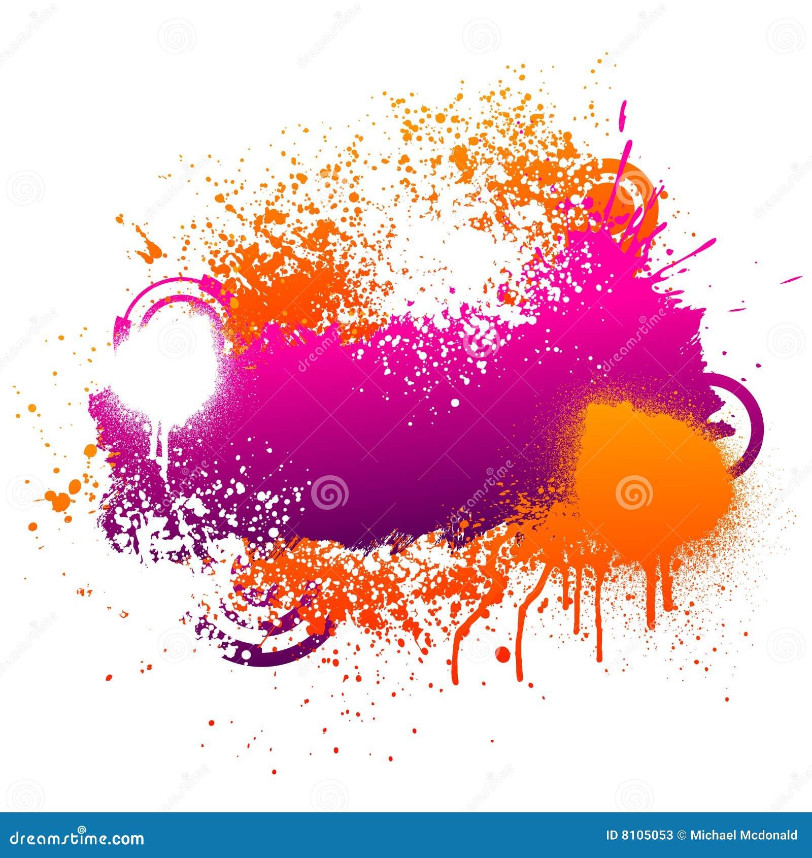 Spray Paint Art Purple