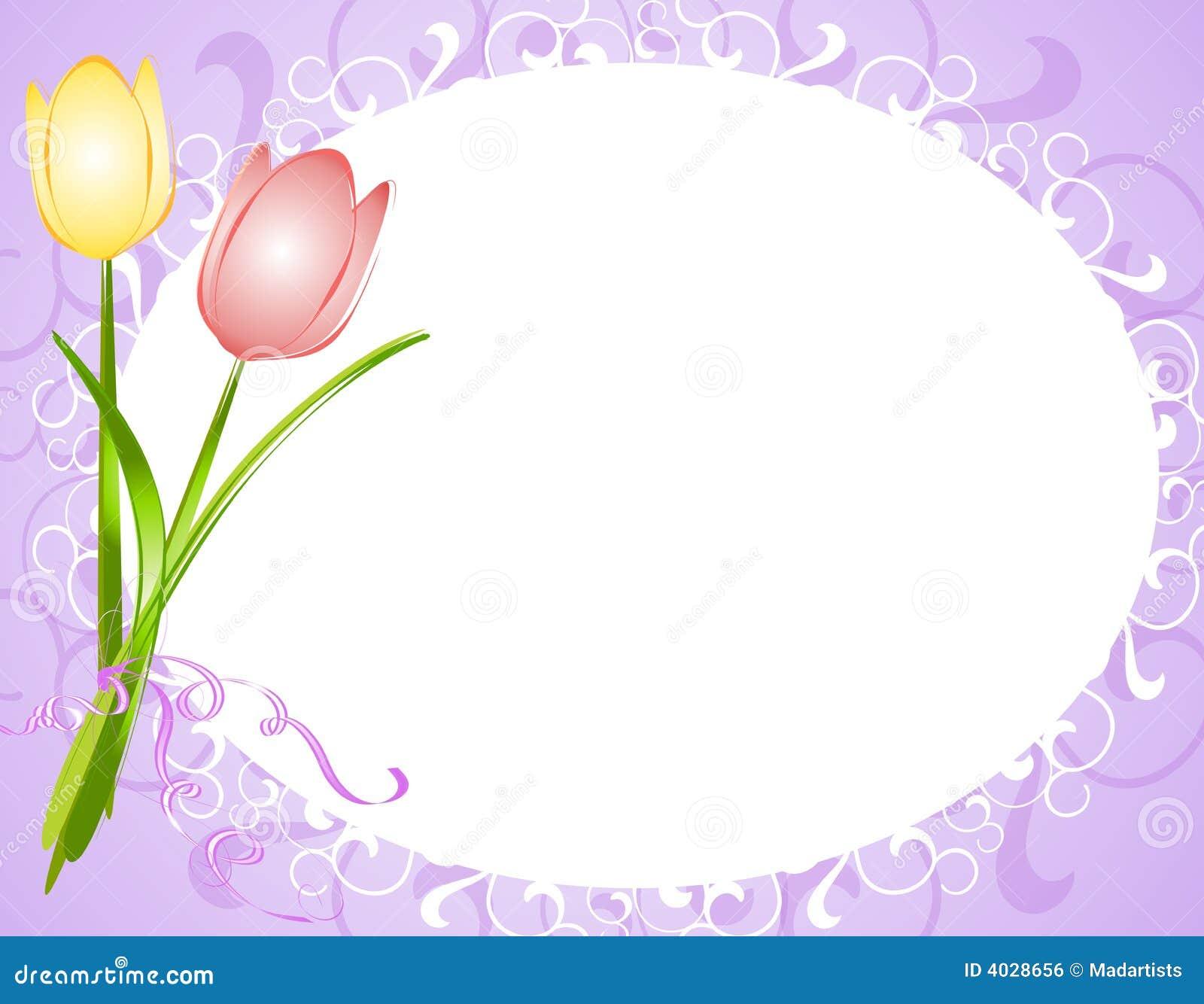 Purple Oval Tulips Flower Frame Border Royalty Free Stock Image ...