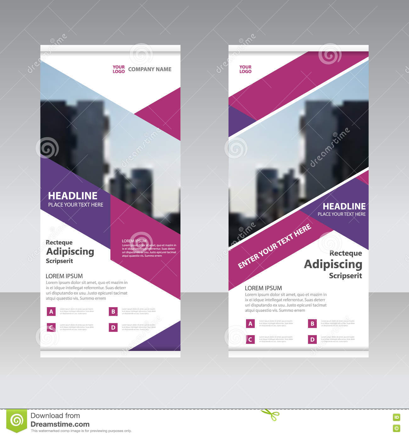 Purple pink business roll up banner flat design template abstract download comp wajeb Gallery