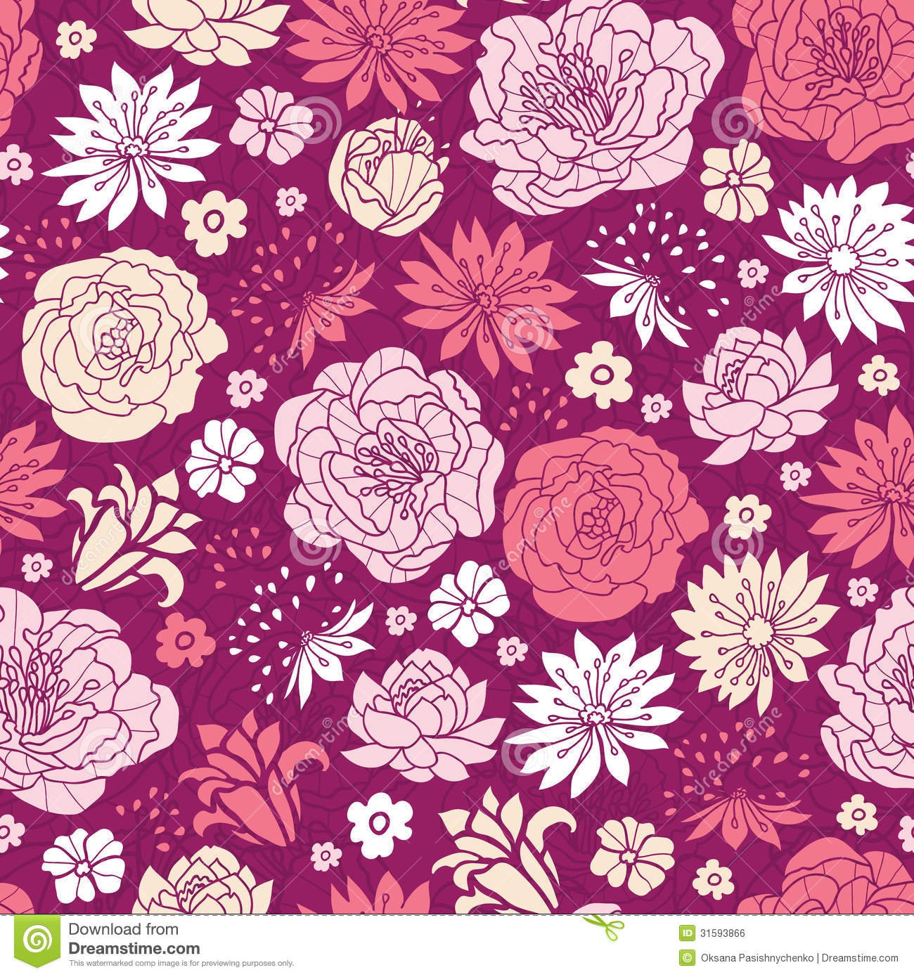 Floral Pattern Background Pink
