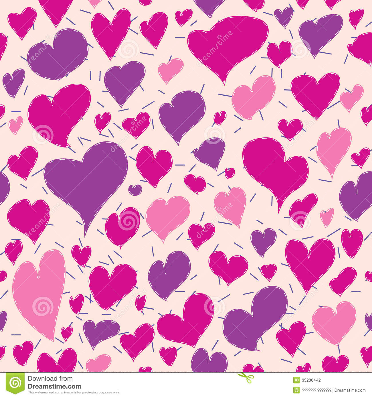 wallpapers purple hearts pink - photo #42