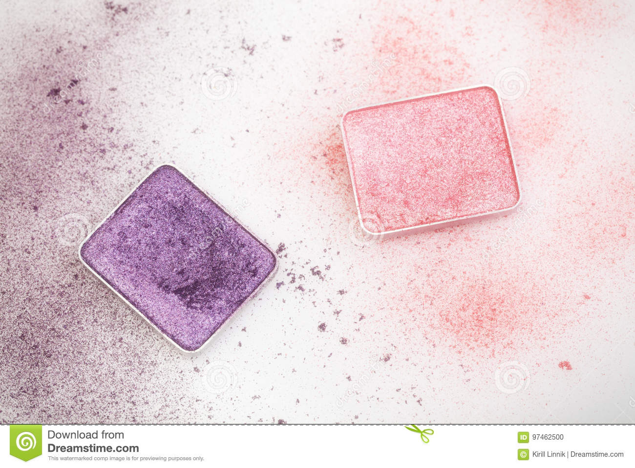 Download Purple And Pink Make-up Palettes Stock Photo - Image of macro, beauty: 97462500
