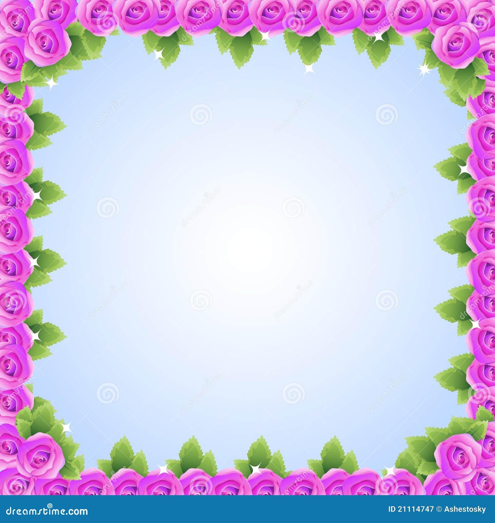 Purple Rose Frame Purple Pink Roses Fram...