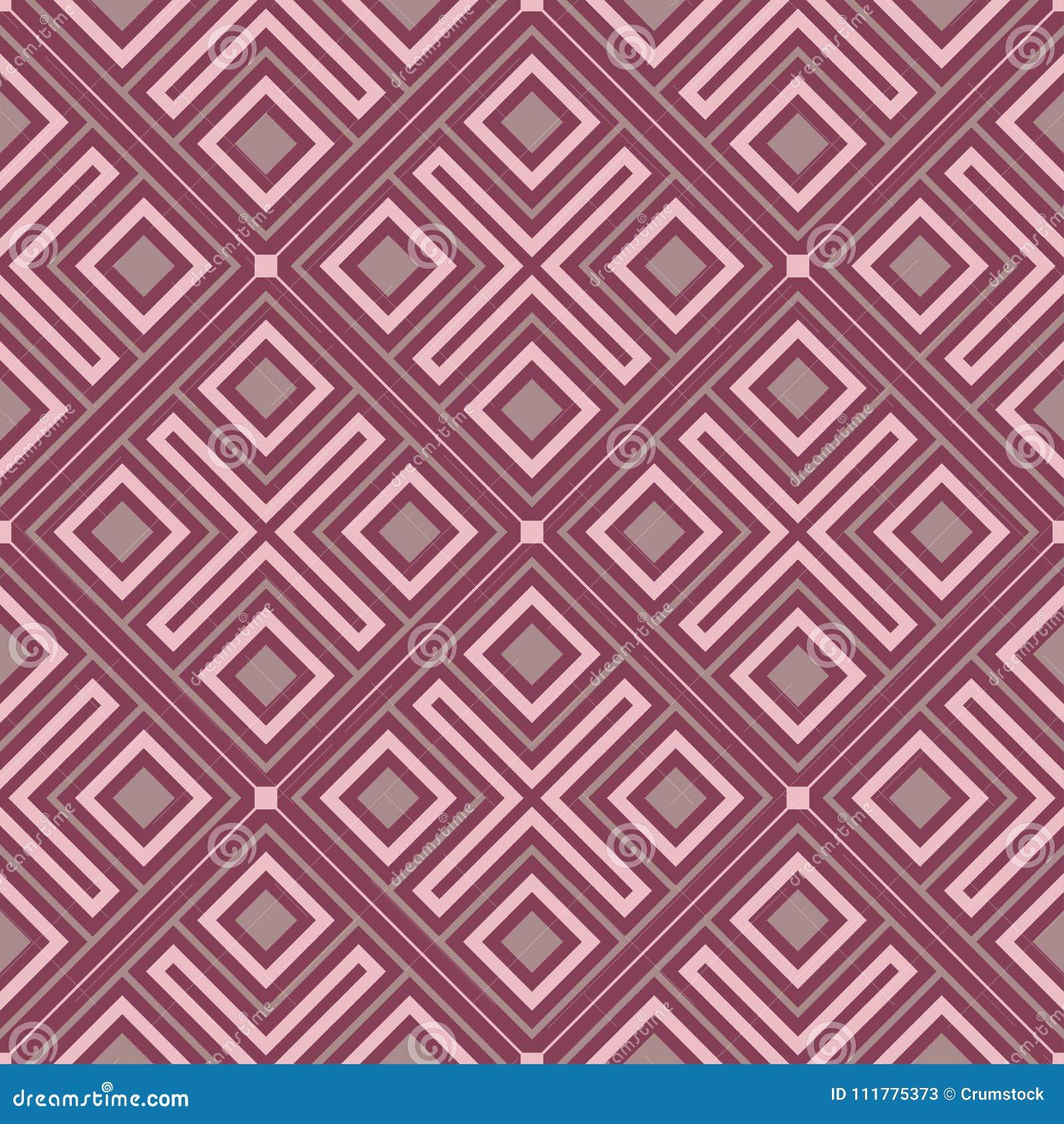 Purple red geometric seamless background. Dark deep red background