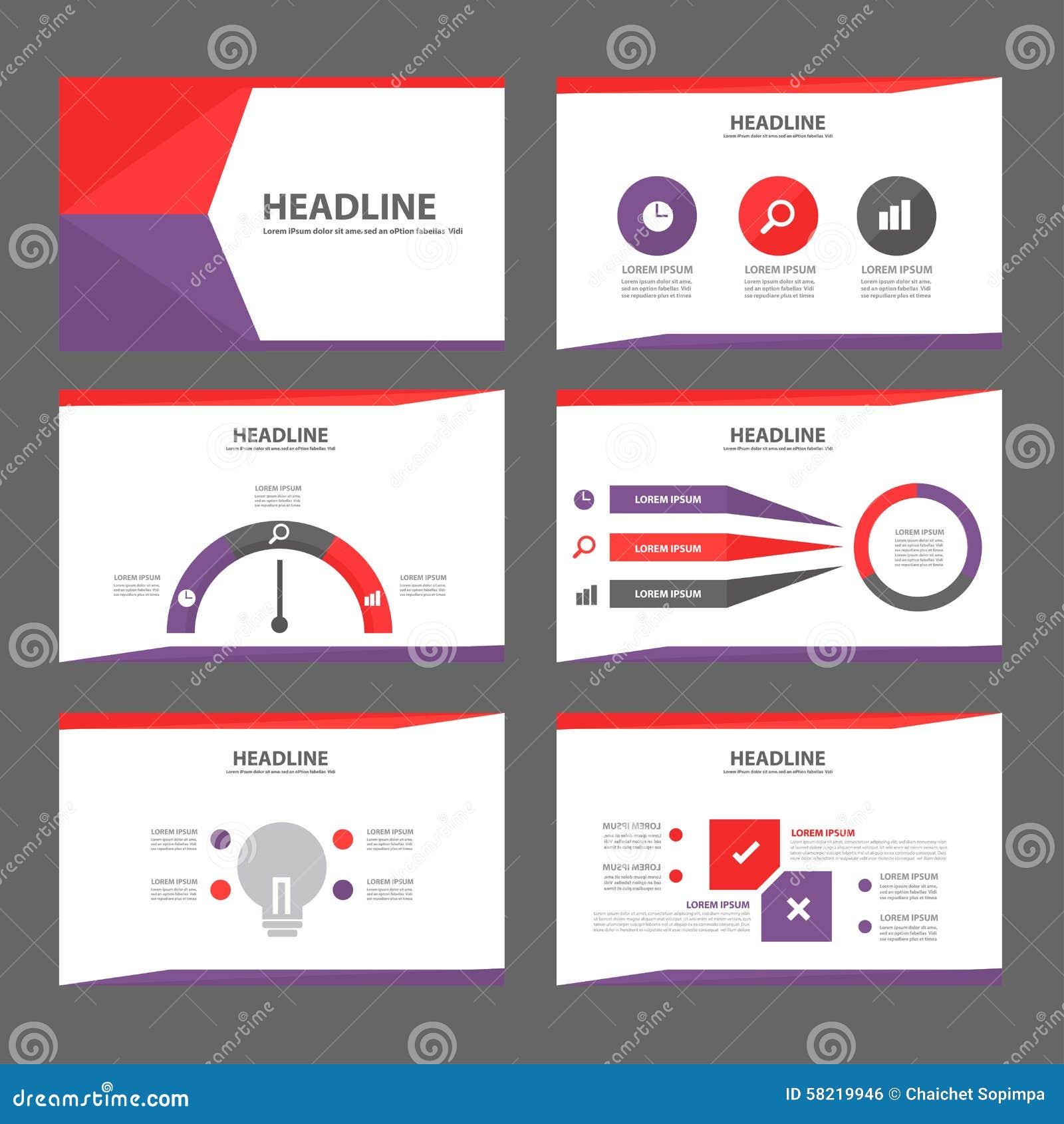 purple and red multipurpose brochure flyer leaflet website template flat design stock vector. Black Bedroom Furniture Sets. Home Design Ideas