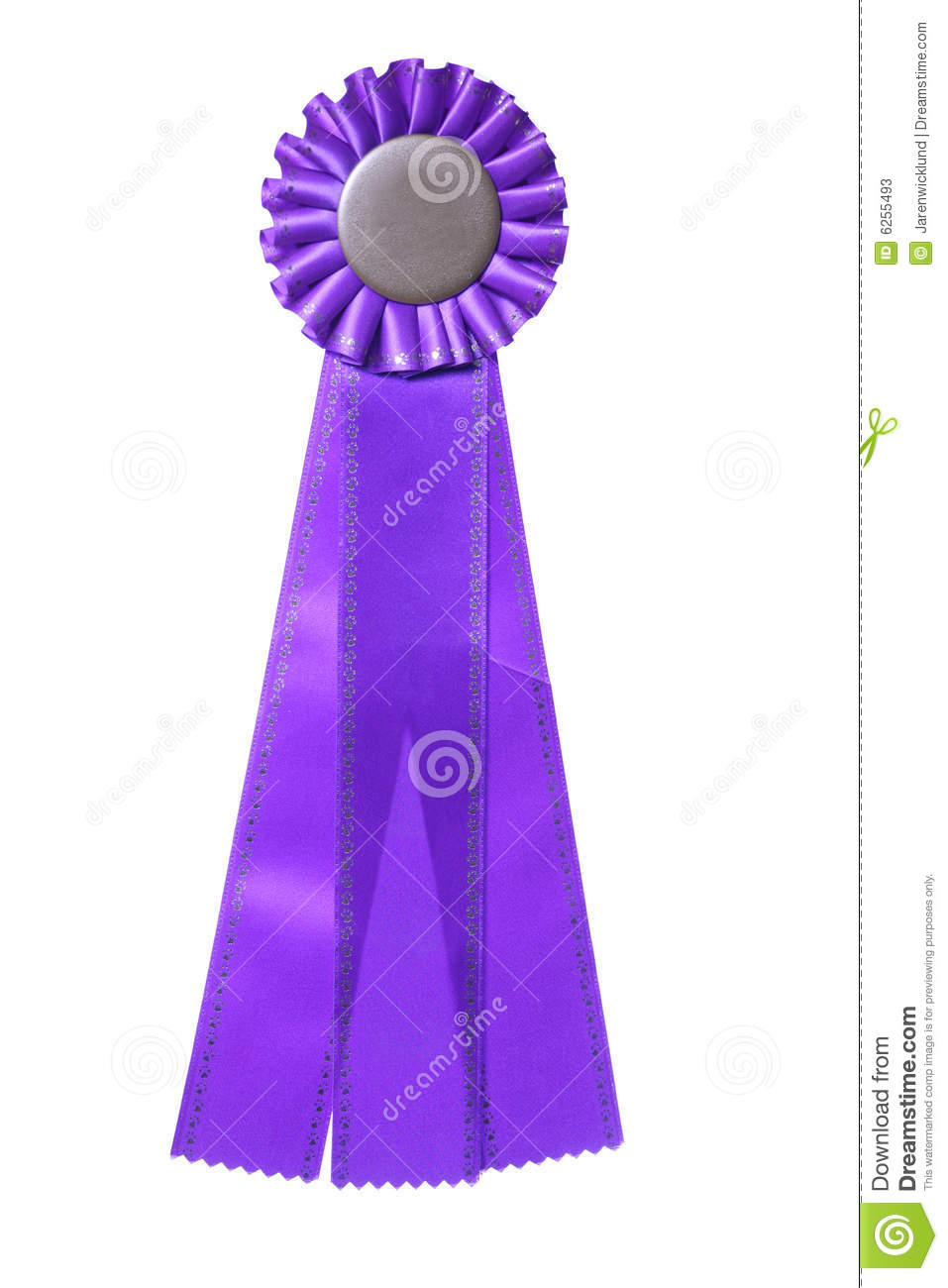 purple ribbon award isolated on white stock photos