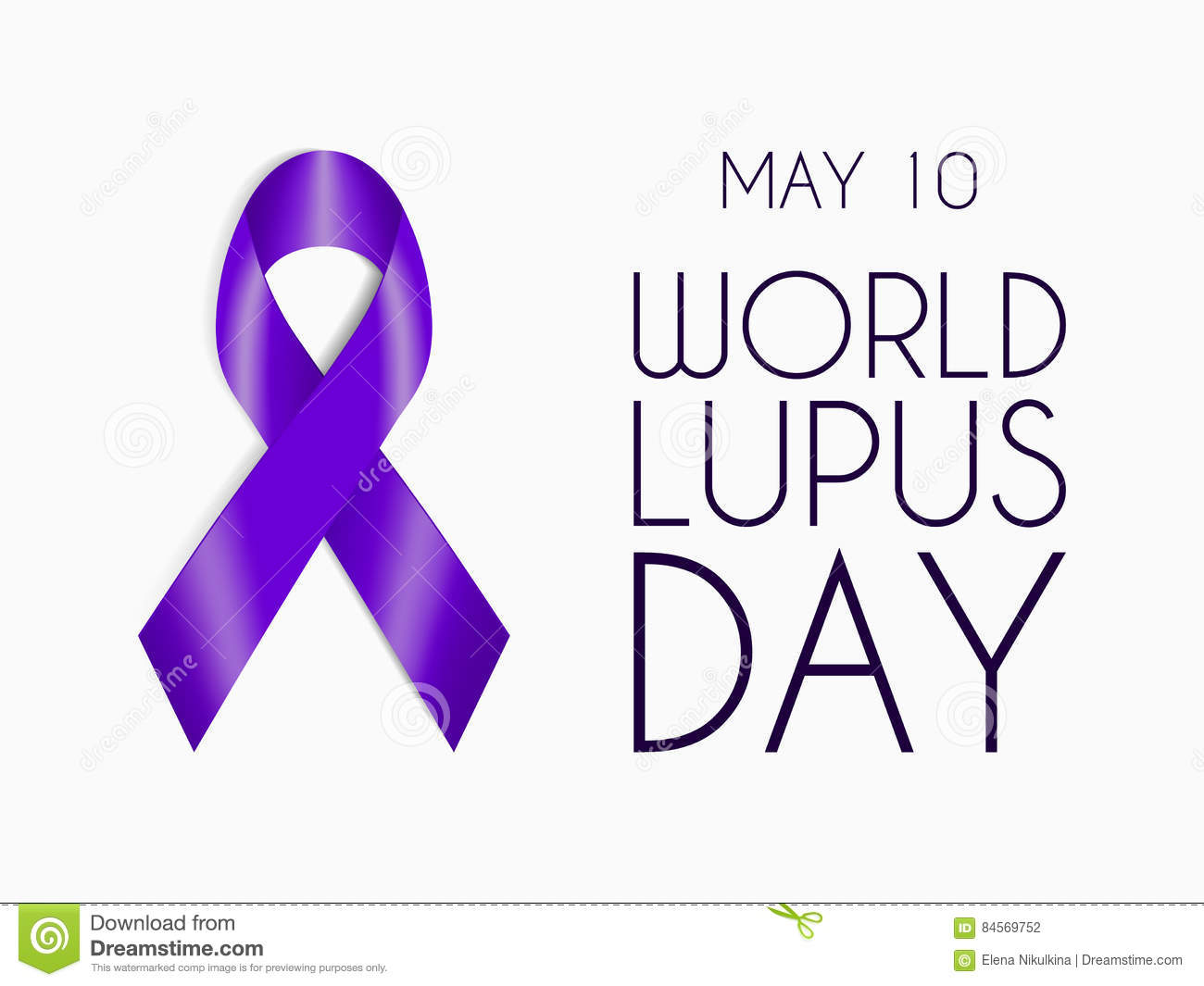 Purple ribbon isolated on white background world lupus day symbol purple ribbon isolated on white background world lupus day symbol sign of support for people with autoimmune disease biocorpaavc Image collections