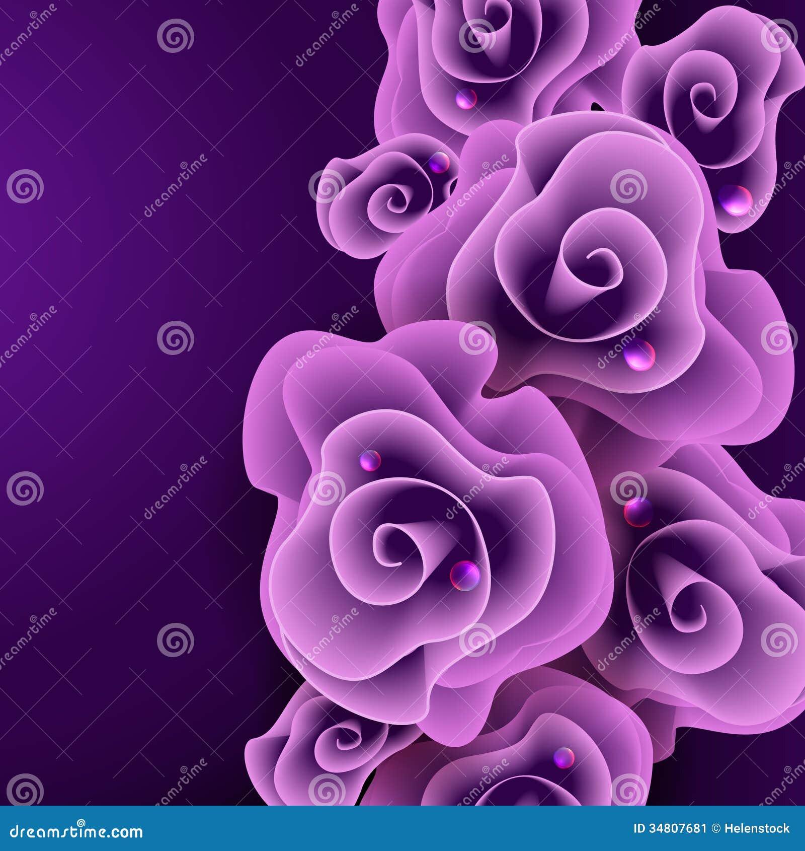Purple Rose Background Stock Vector Illustration Of