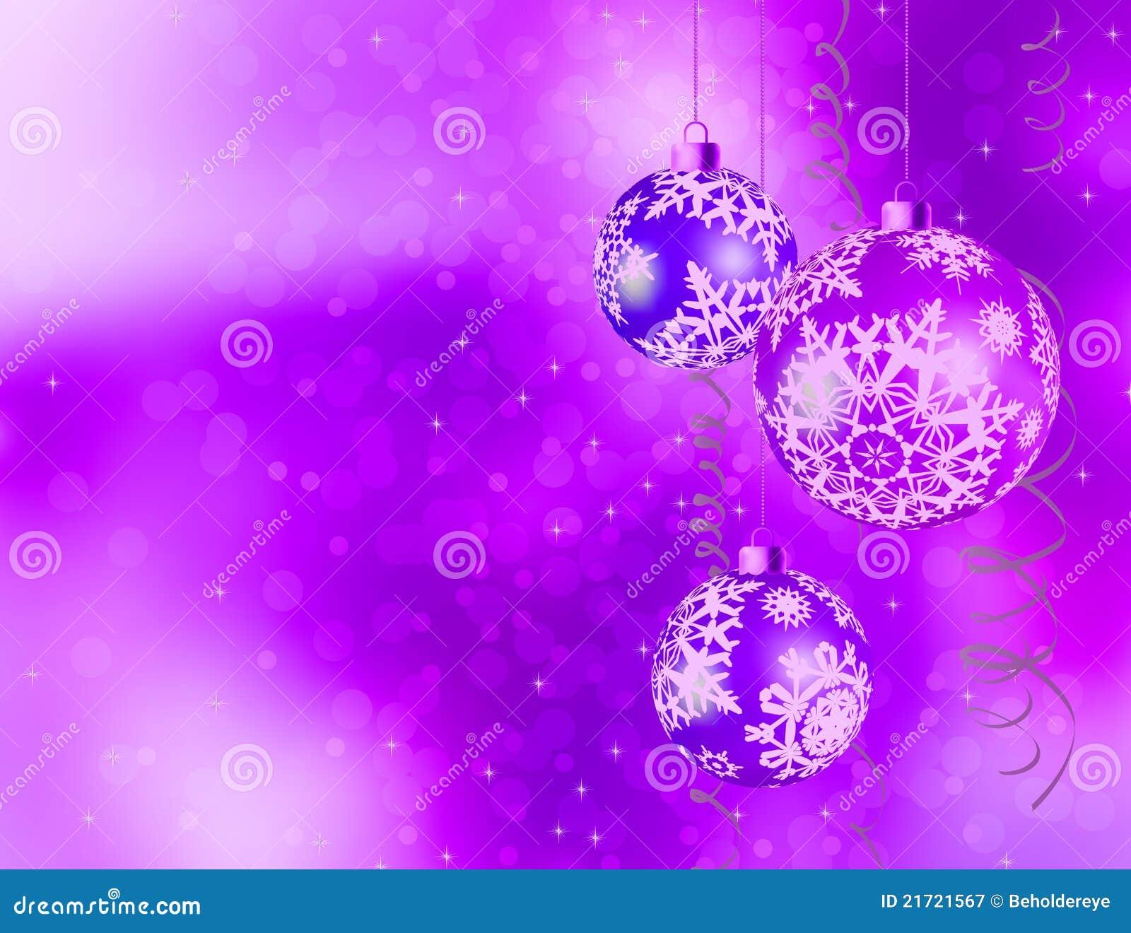 Purple Shiny Christmas Background. EPS 8 Royalty Free Stock ...