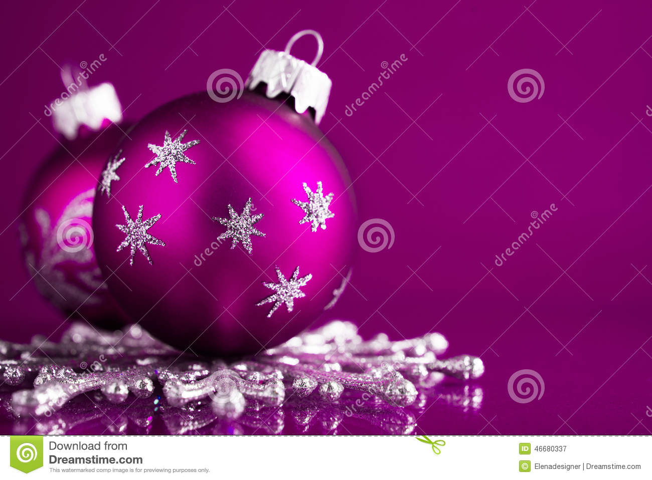 Purple and silver christmas decorations - Background Christmas Dark Ornaments Purple Silver
