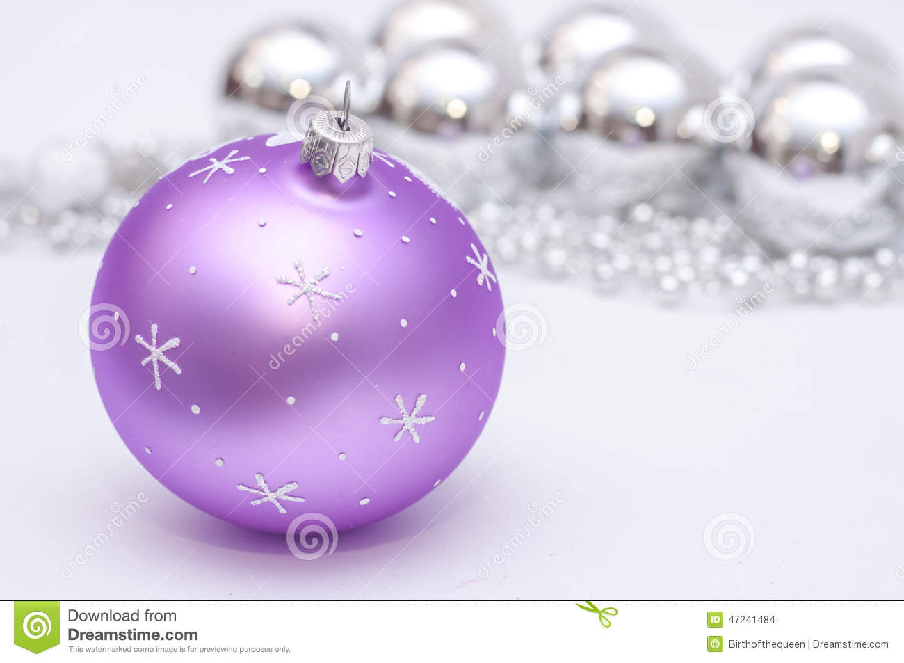 download purple and silver xmas decoration stock photo image of celebration christmas