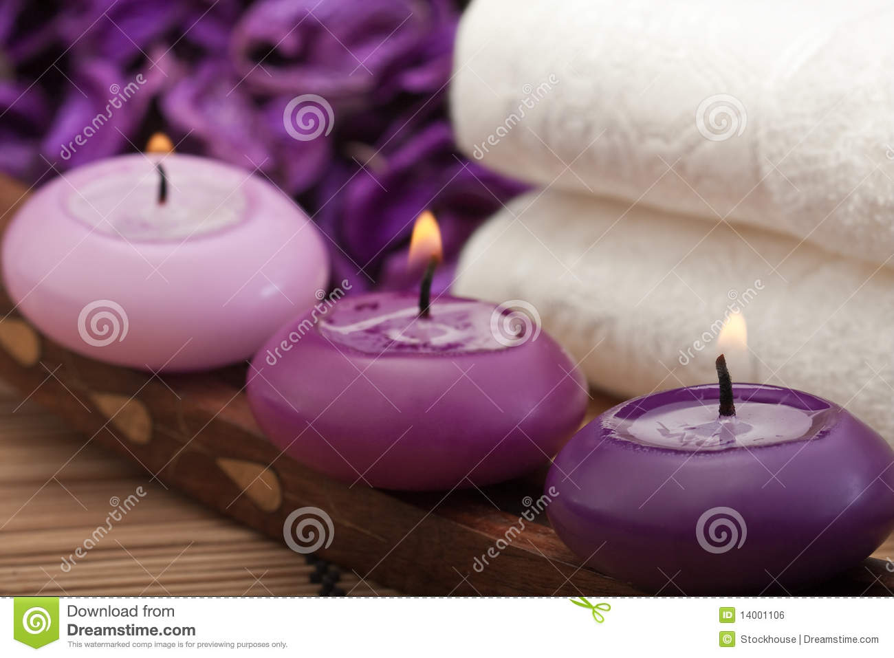 Purple Spa Relaxation 2 Stock Photo Image Of Cosy 14001106