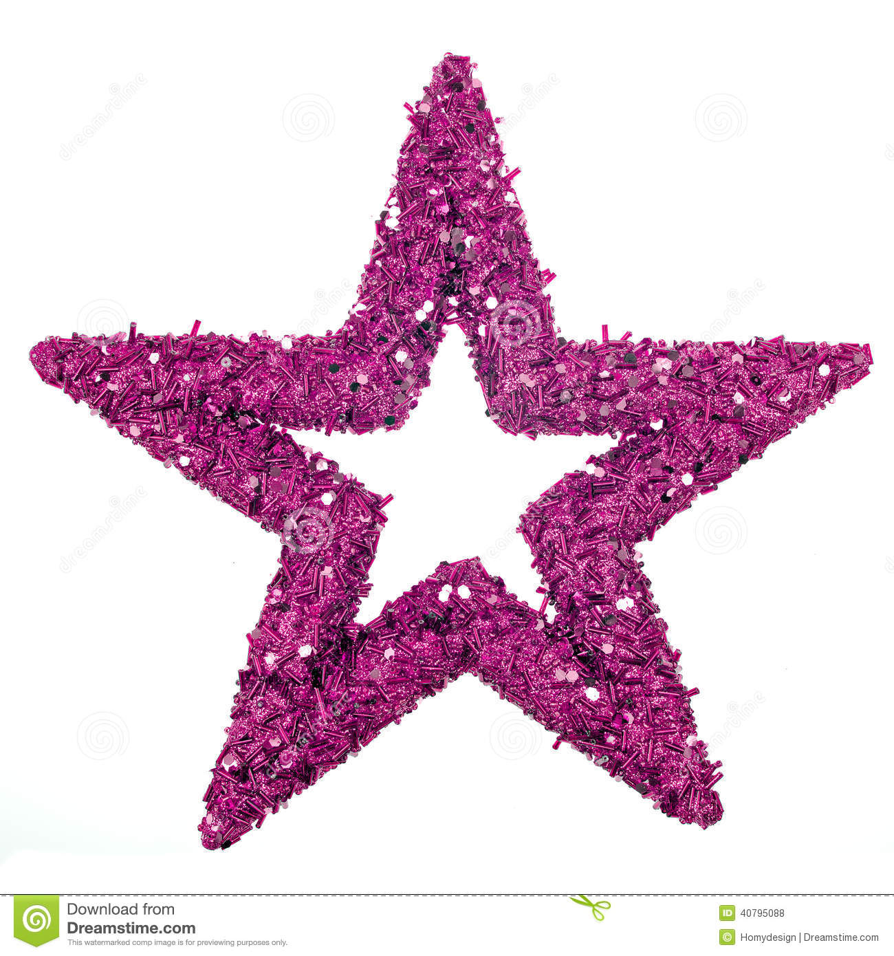 purple star to decorate a Christmas tree.