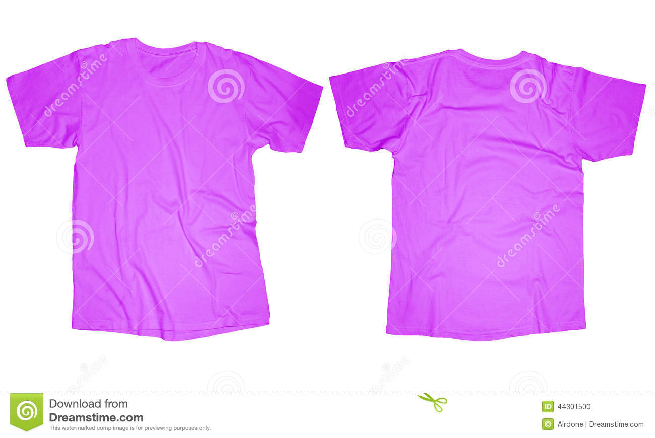 Purple T-Shirt Template stock photo. Image of long, mock - 44301500