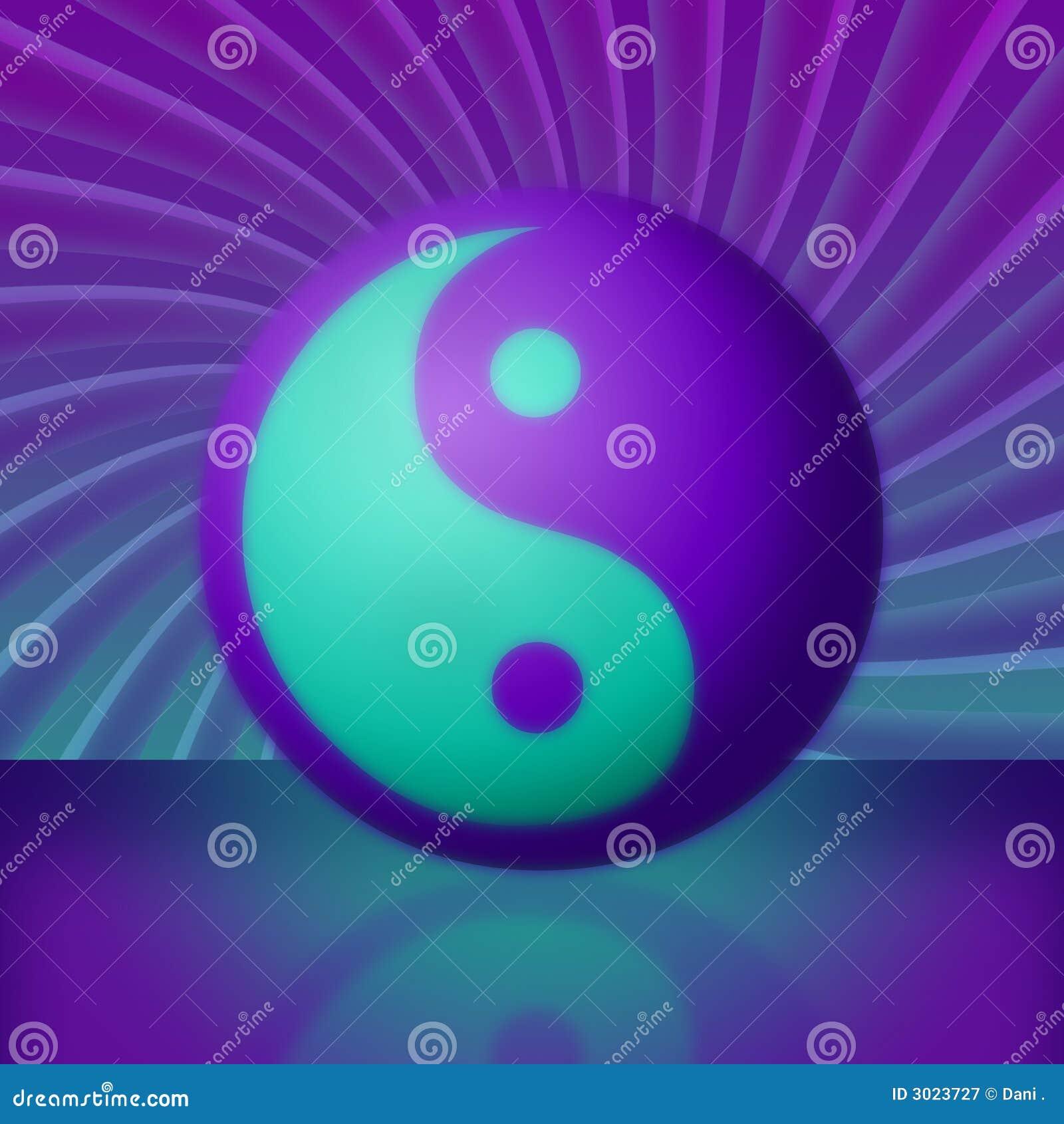 ... Teal Yin Yang Vortex Royalty Free Stock Photography - Image: 3023727