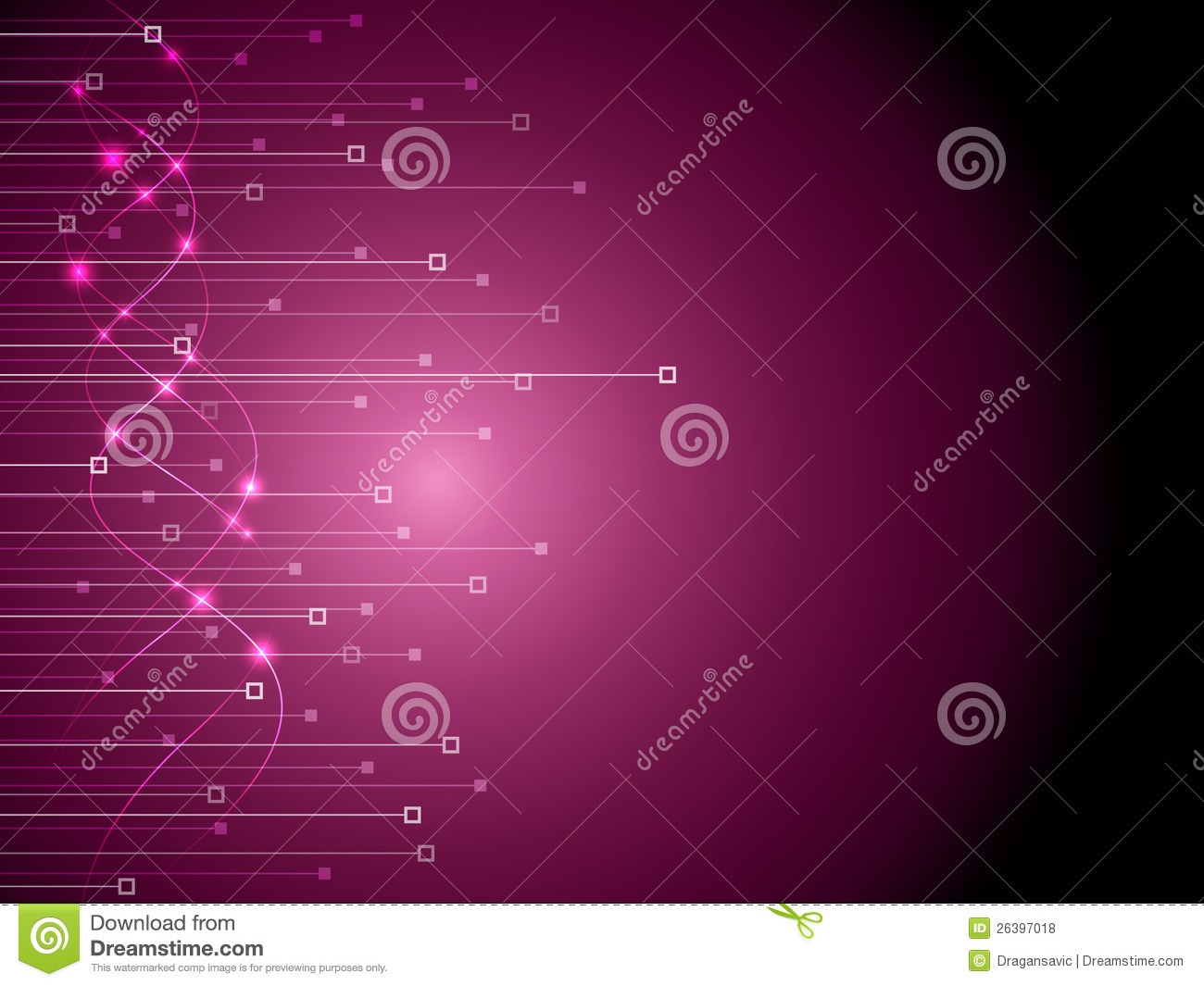 Purple Technology Background Stock Vector - Image: 26397018
