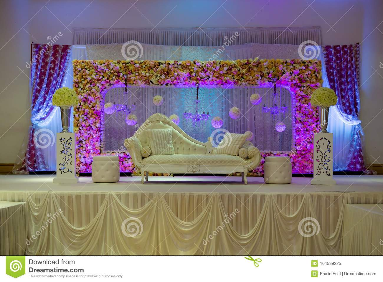 wedding events stage pondicherry sigaram decor decoration flower reception decorations