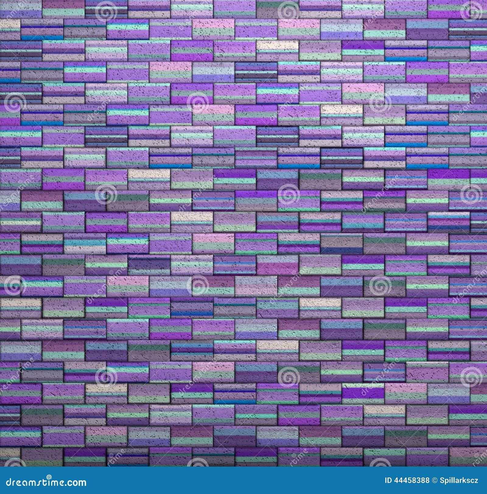 Pebble tiles bathroom floor - Purple Tile Mosaic Wall Floor Grunge Stone 3d Render Stock