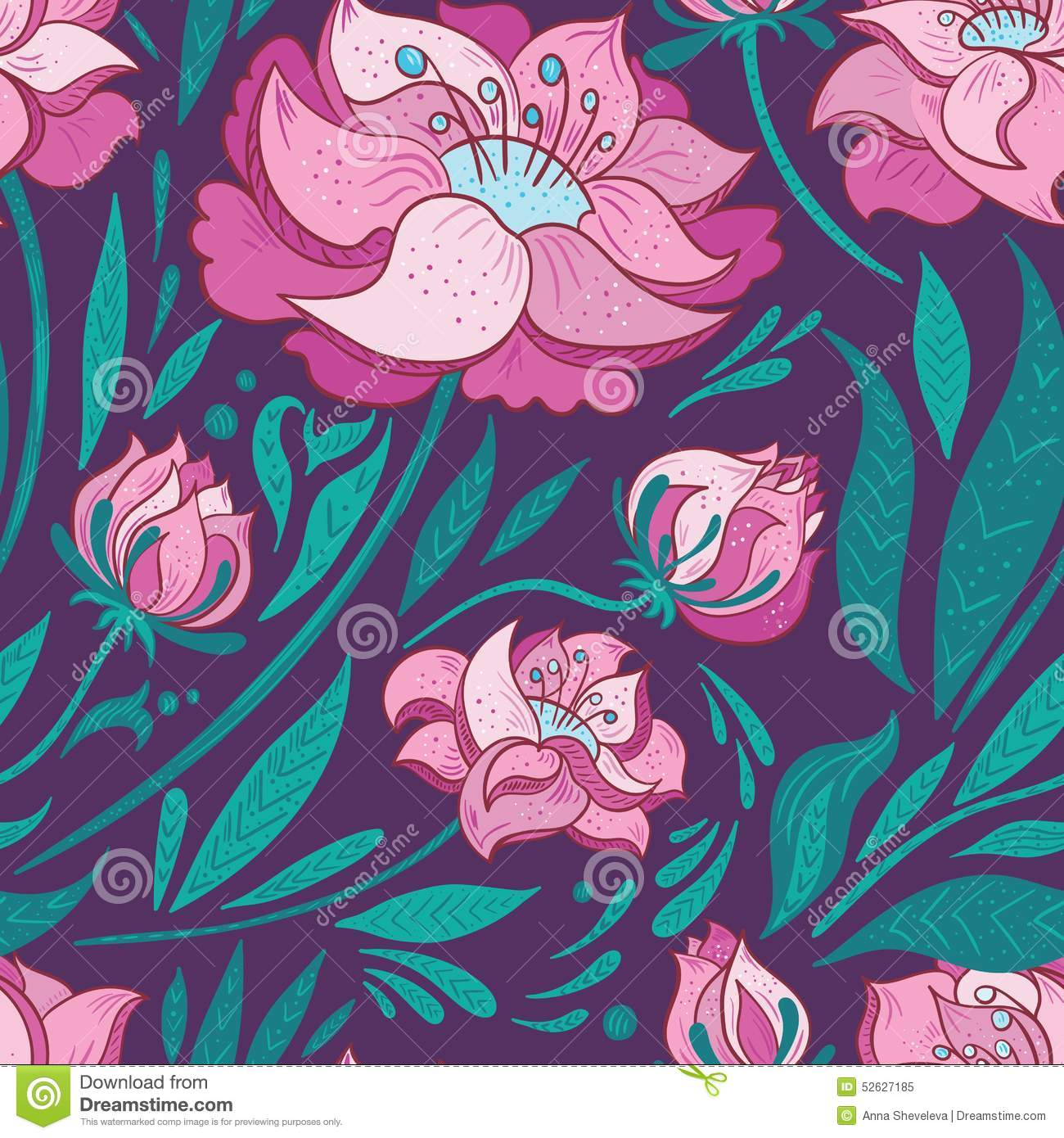 Purple vector background with pink flowers stock vector purple vector background with pink flowers mightylinksfo